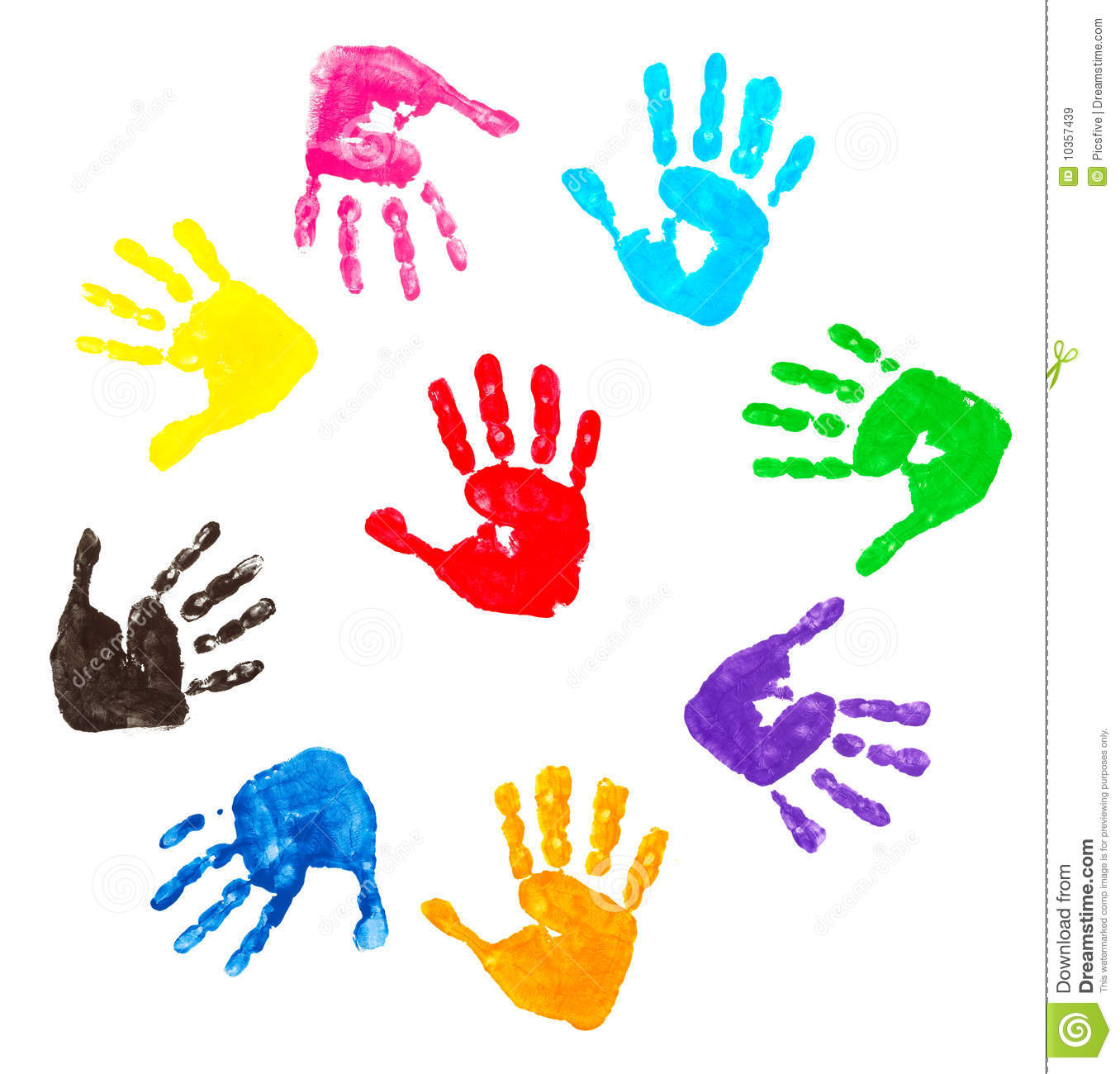 Colorful Hand Prints Royalty Free Stock Images Image
