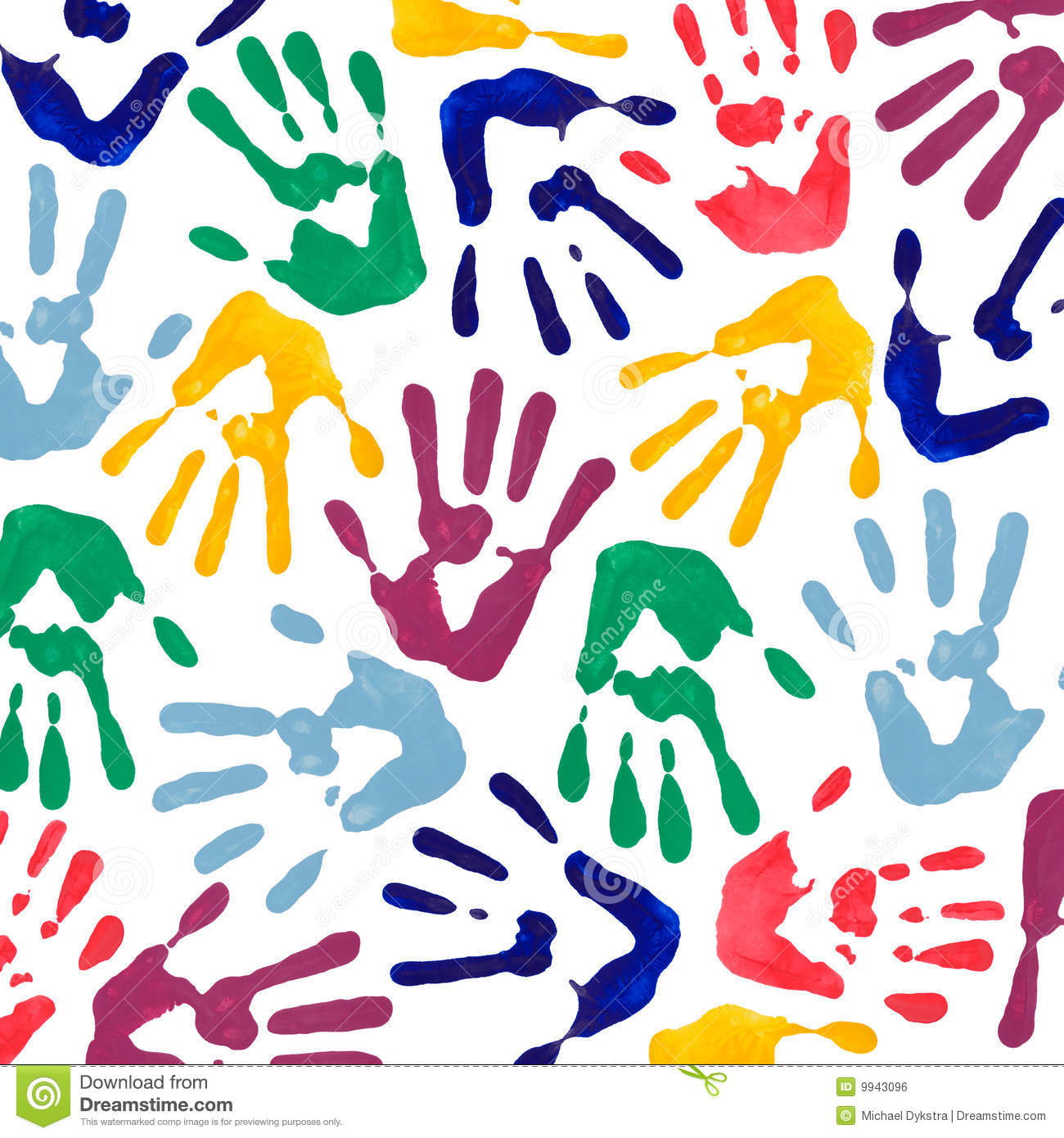 Colorful Hand Prints Wallpaper Royalty Free Stock Image Colorful Prints