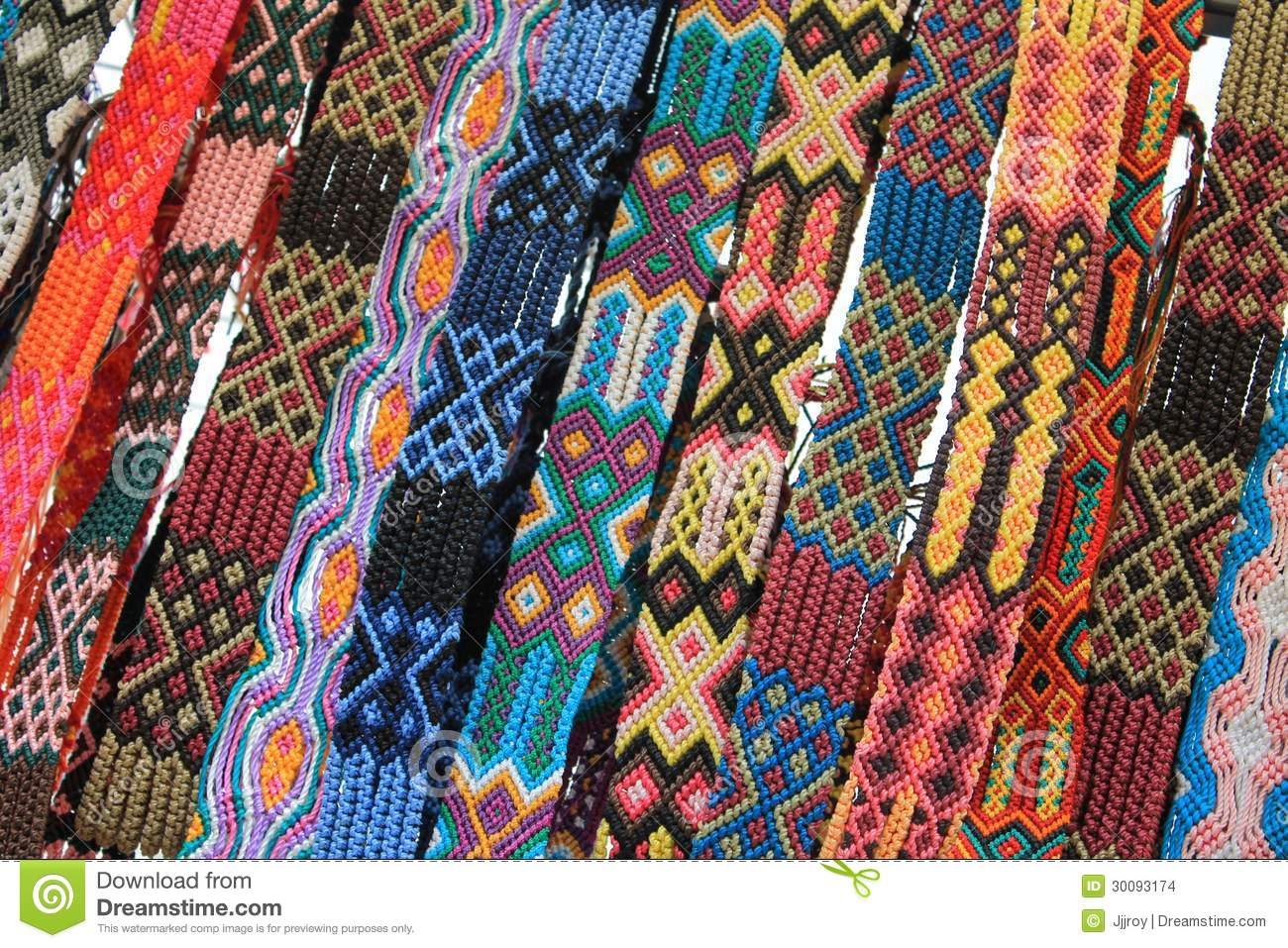 Macrame belts for sale at mexican craft market stock for Mexican arts and crafts for sale
