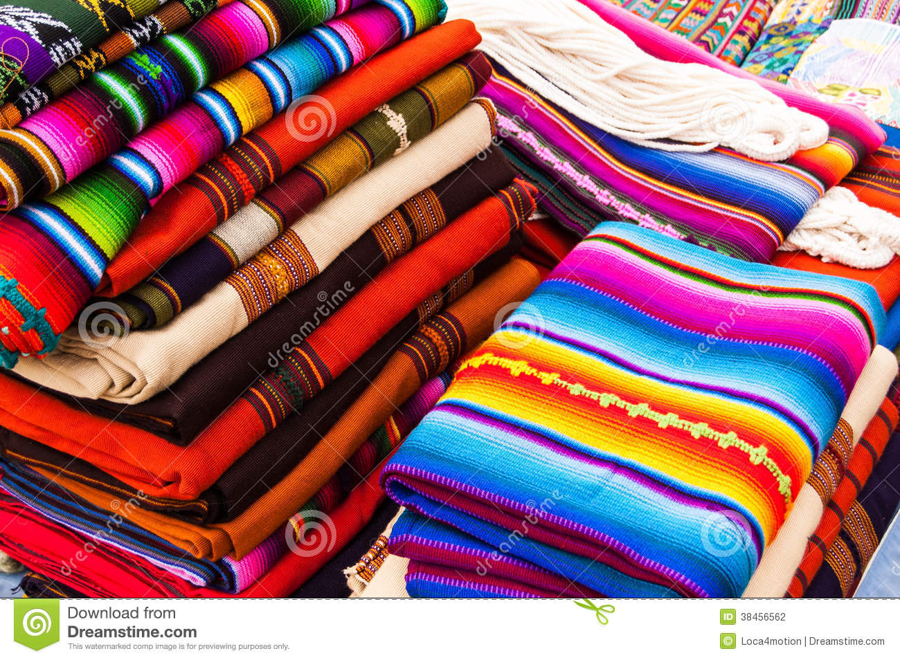 Textiles Colorful For Sale In A Market Of Kuala Lumpur