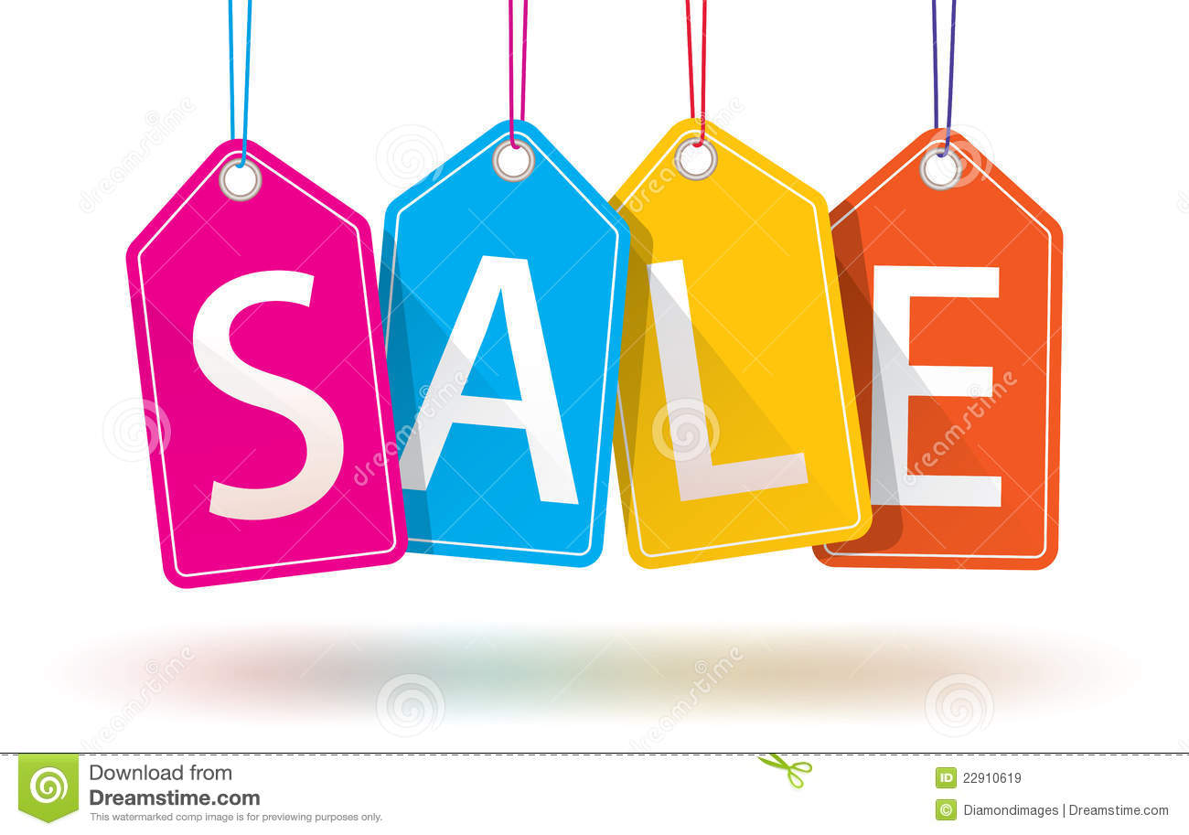 Colorful Hanging Sales Tags