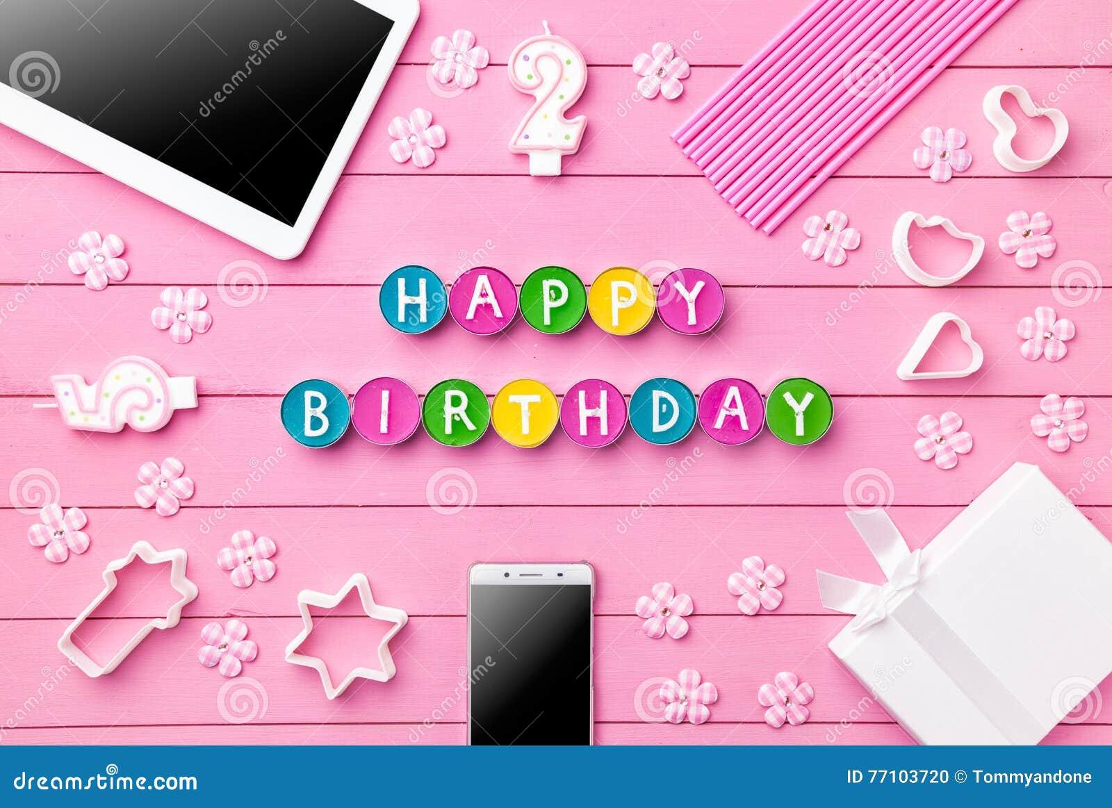 colorful happy birthday background stock photo image of girl