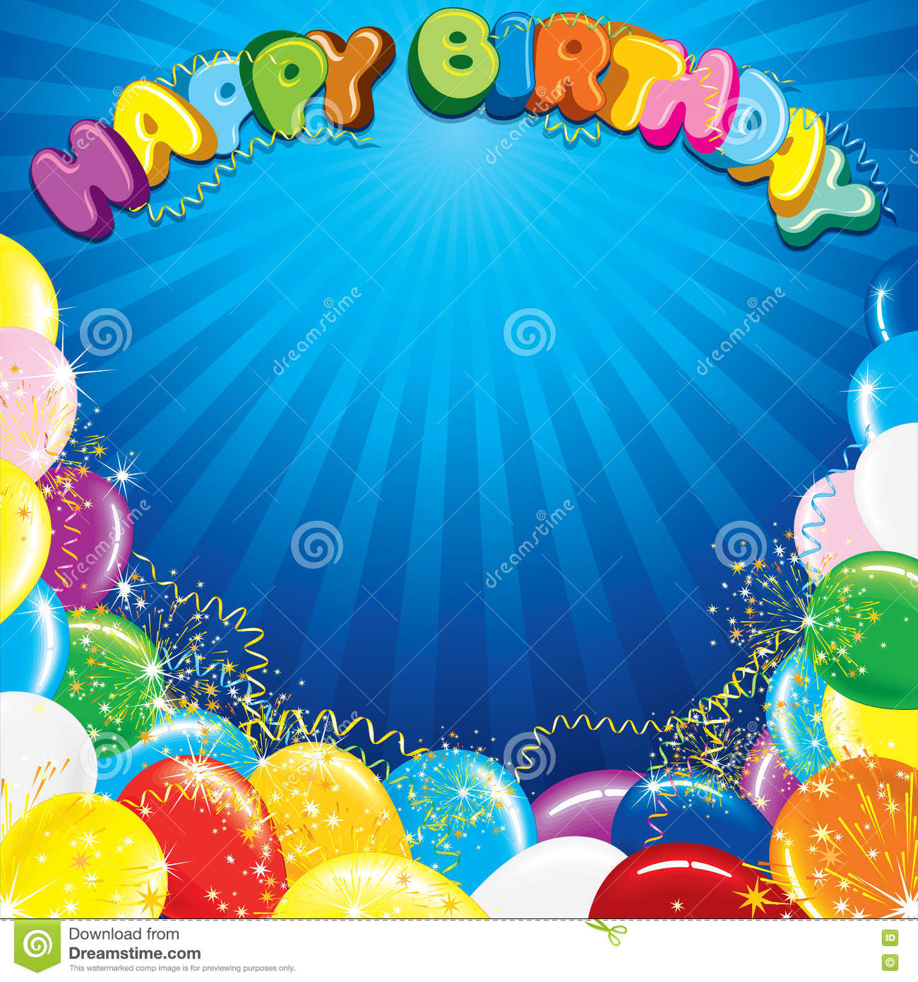 colorful happy birthday background template stock vector