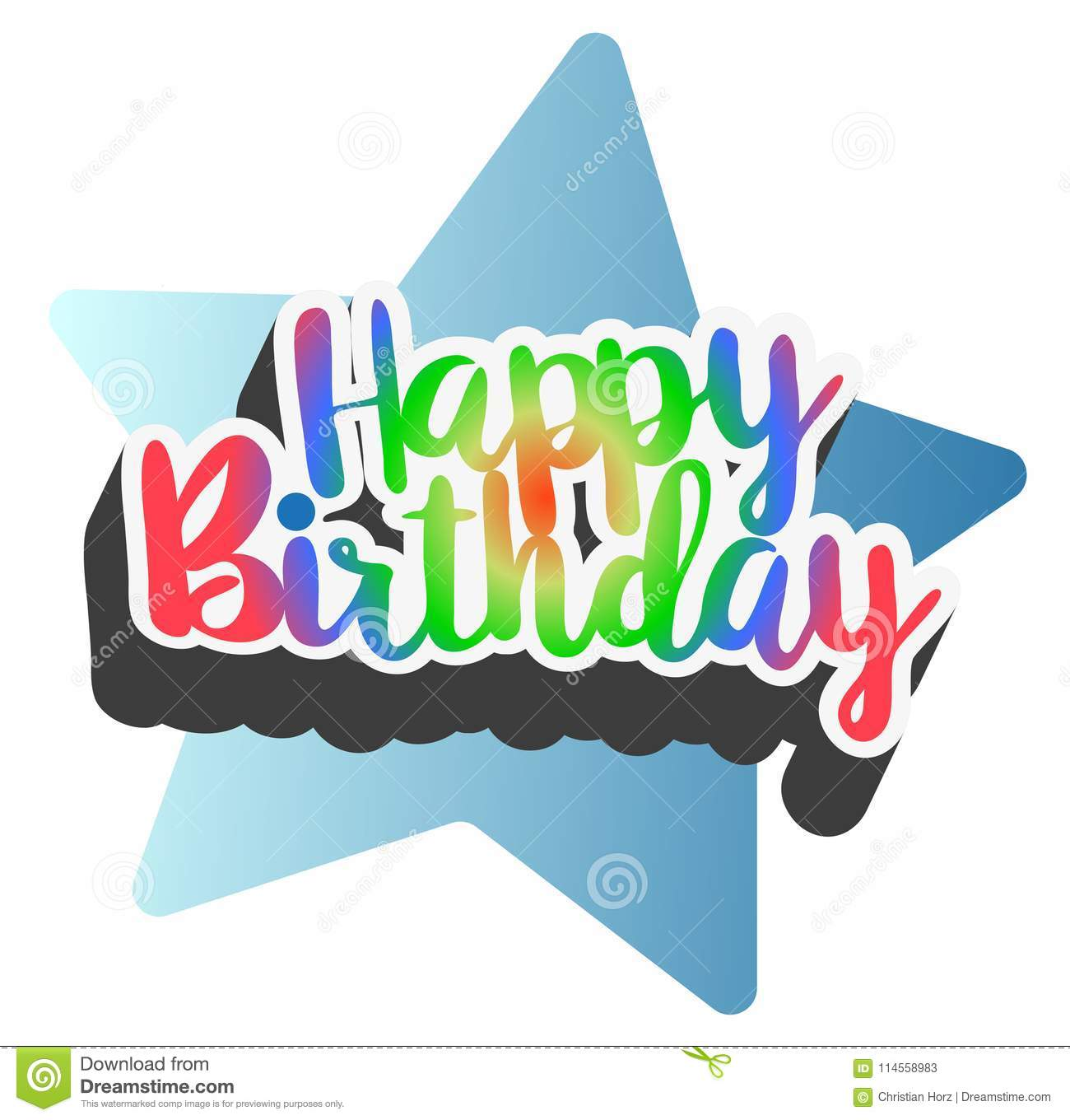 Colorful Happy Birthday Card Stock Vector Illustration Of