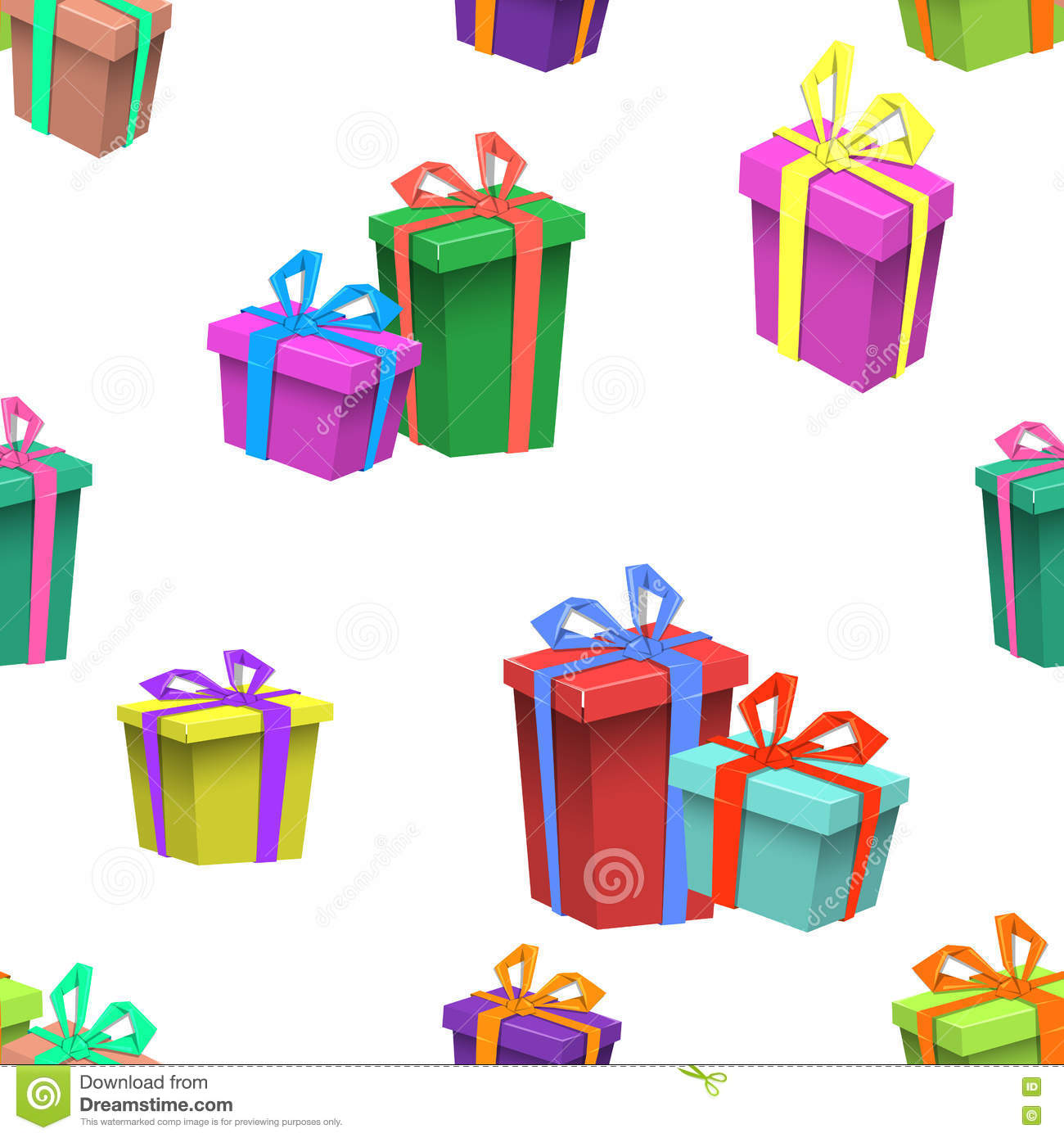 Colorful Happy Birthday Seamless pattern.