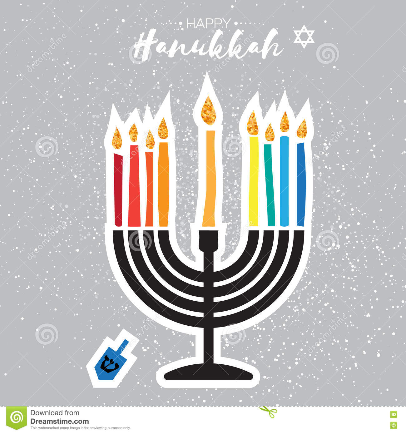 Colorful happy hanukkah greeting card jewish holiday with menorah download colorful happy hanukkah greeting card jewish holiday with menorah stock vector illustration of m4hsunfo