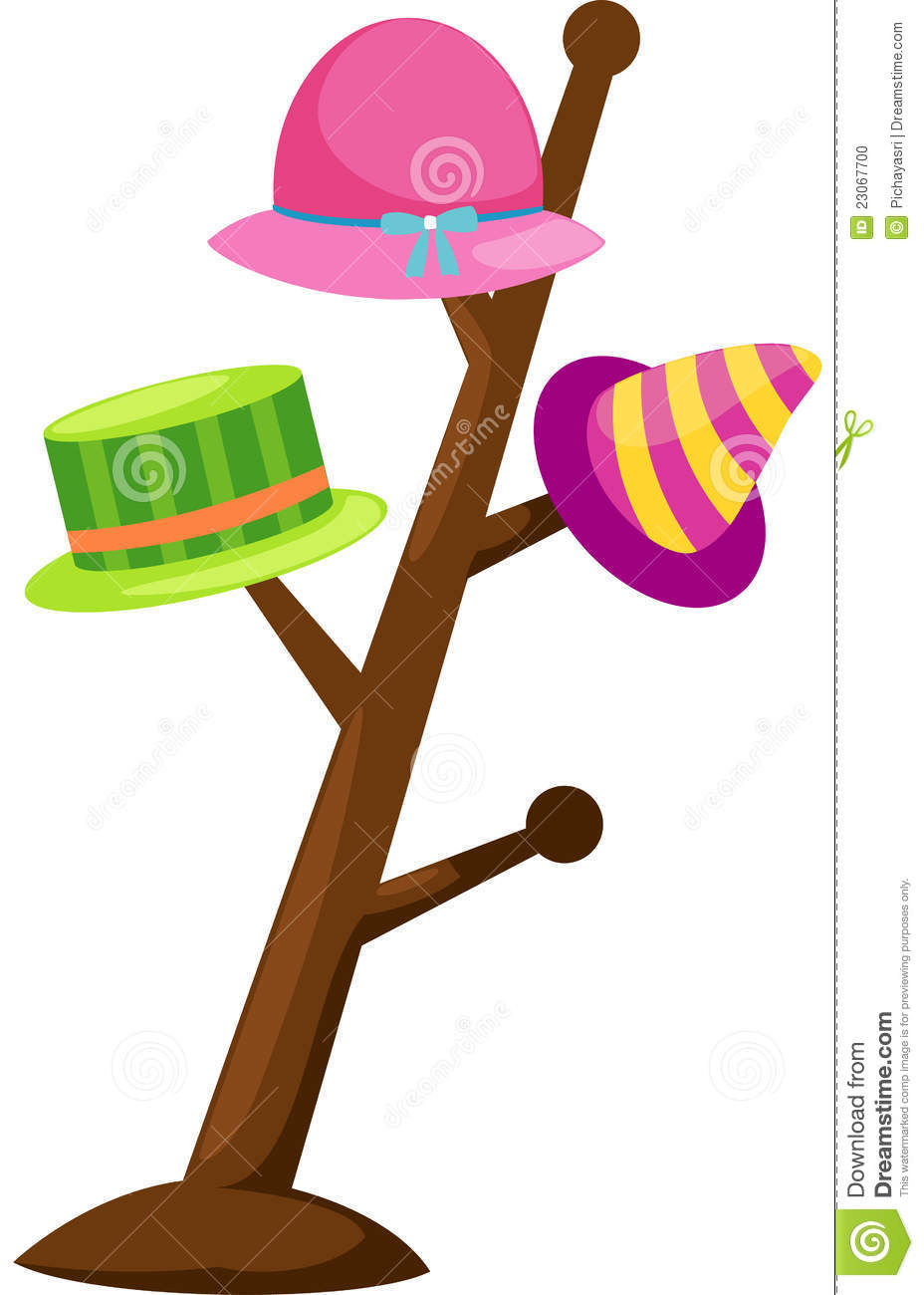 Colorful Hat On A Rack Stock Photo Image 23067700