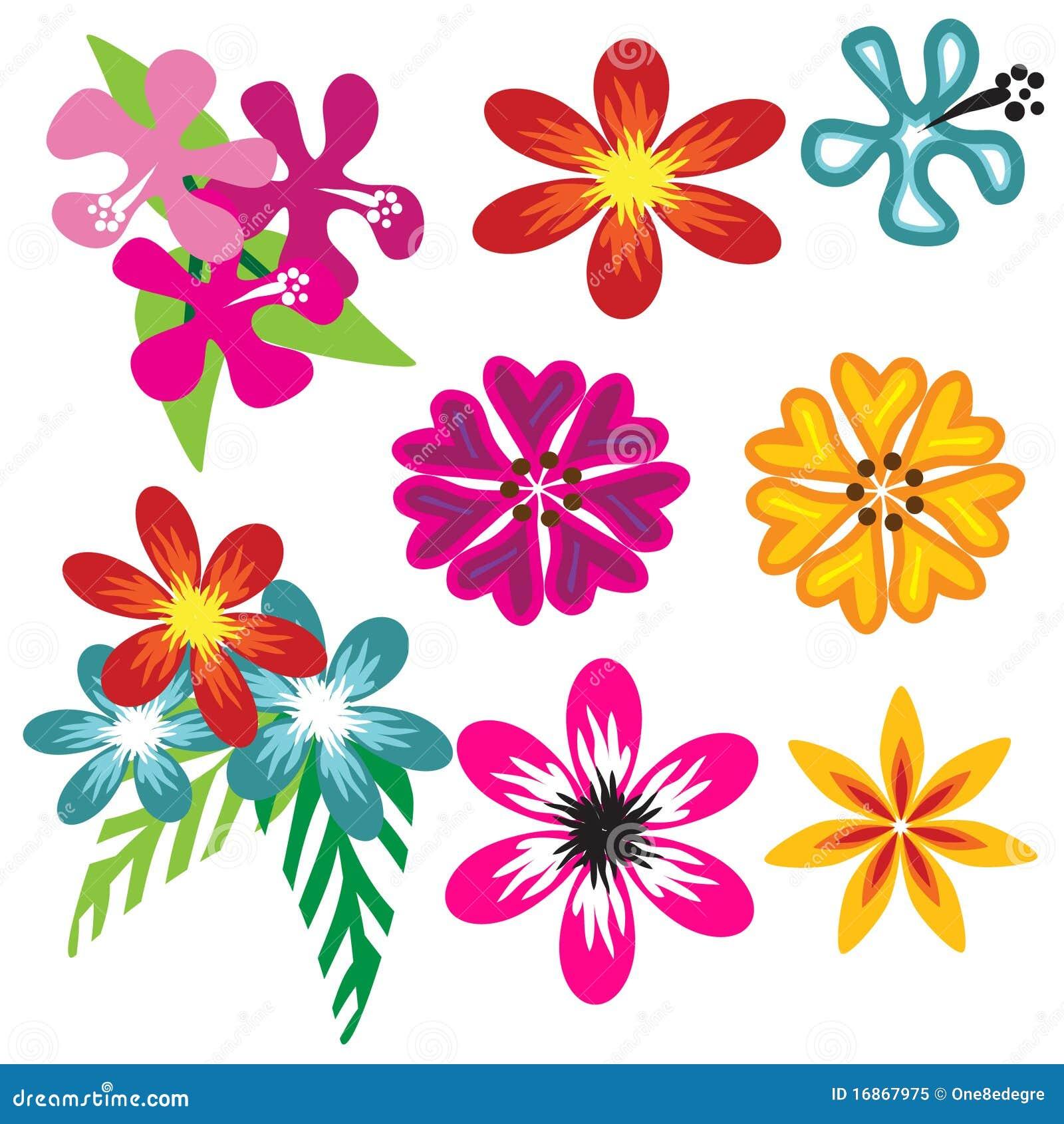 Colorful hawaiian flower set stock vector illustration of petals colorful hawaiian flower set izmirmasajfo