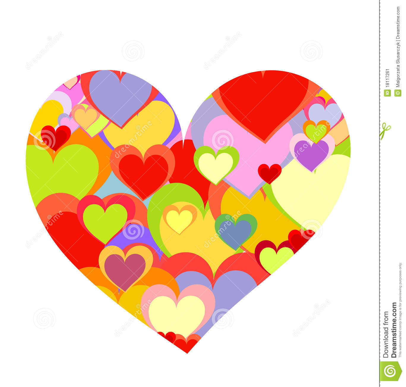 Colorful Heart Stock Image - Image: 18117261