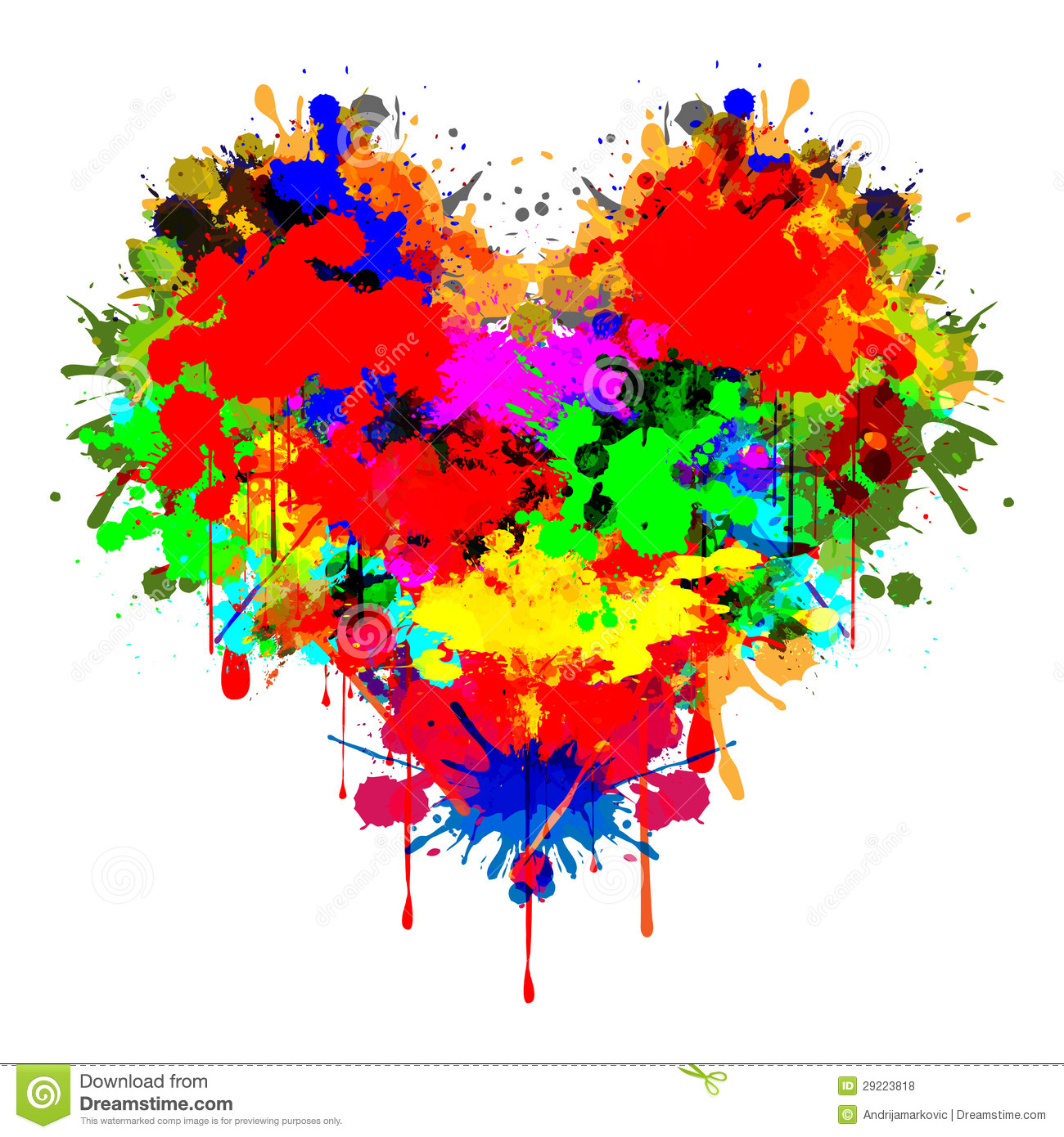 Colorful Heart Royalty Free Stock Photos - Image: 29223818