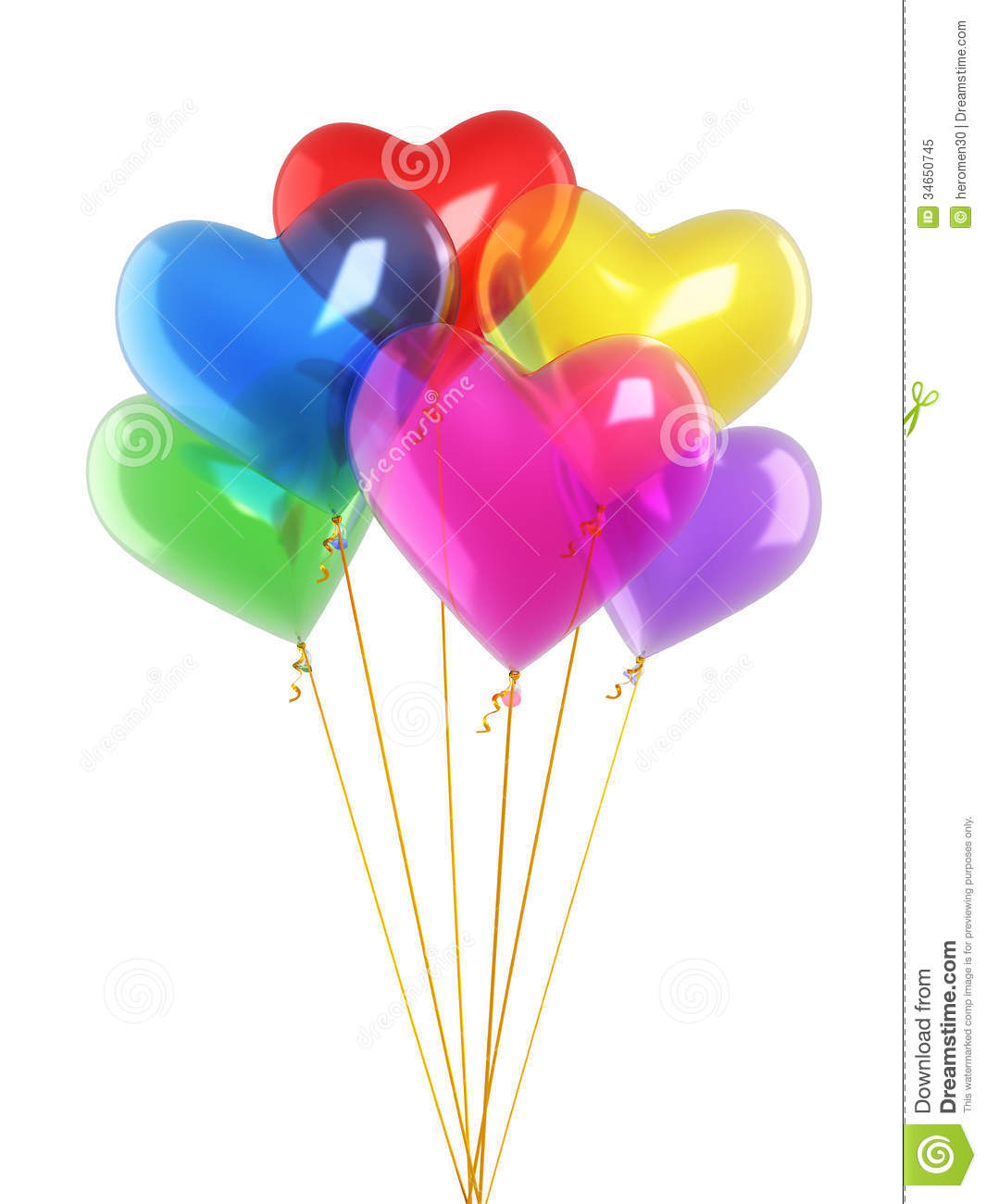 Colorful Heart Balloons Royalty Free Stock Photo - Image: 34650745