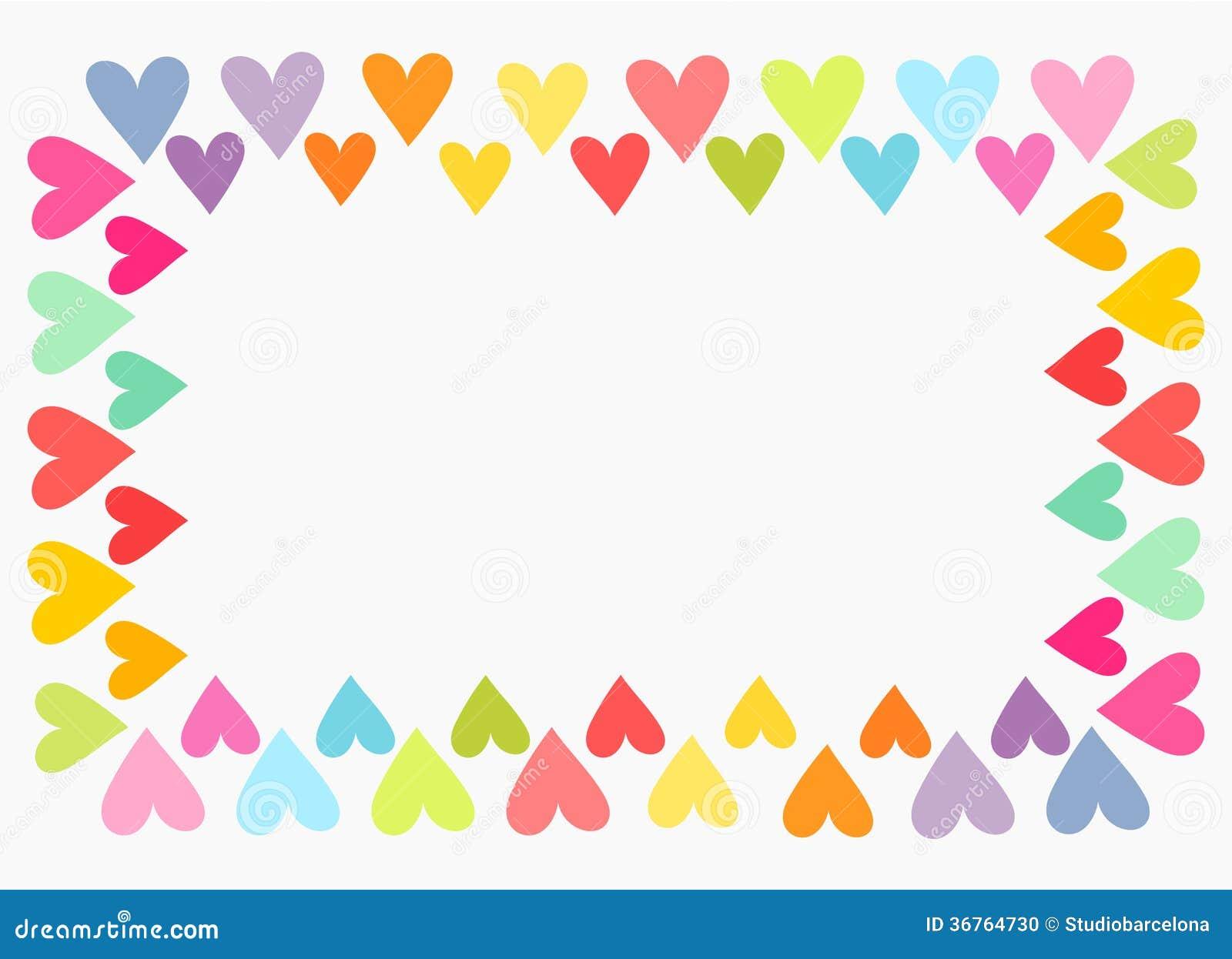 Colorful heart border stock illustration. Illustration of ...