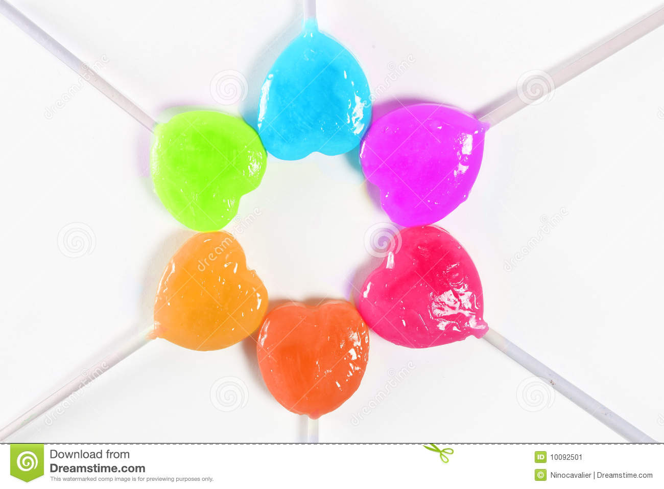 Colorful Heart Candy Stock Image - Image: 10092501