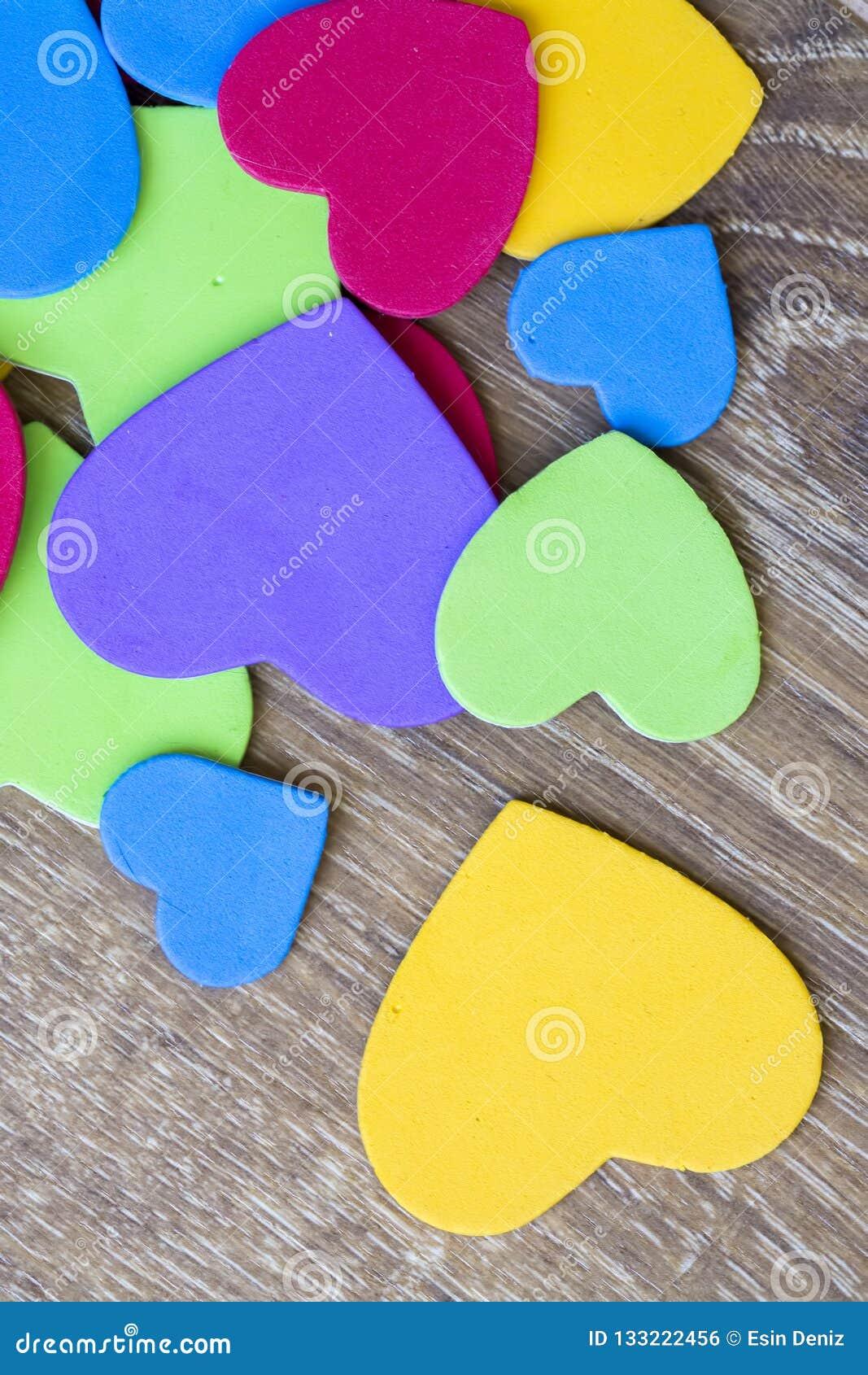 Colorful heart figure. Love symbol concept