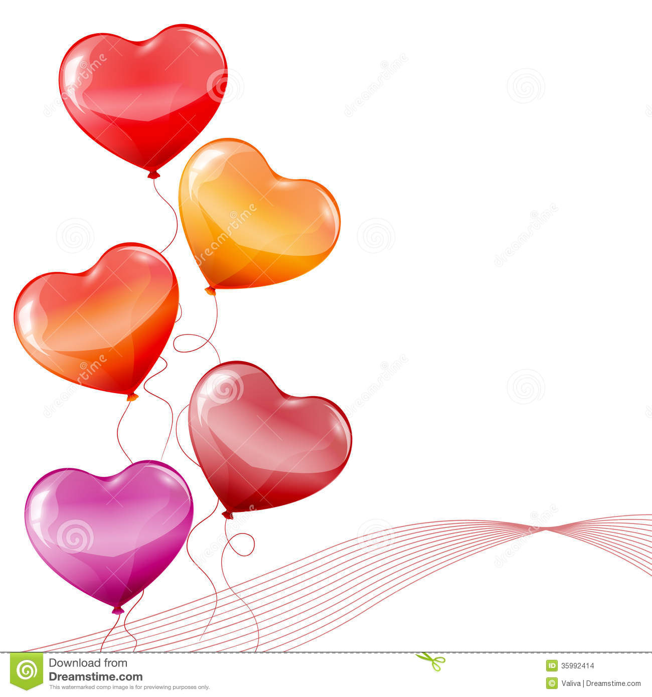 Colorful Heart Shaped Balloons Stock Images - Image: 35992414