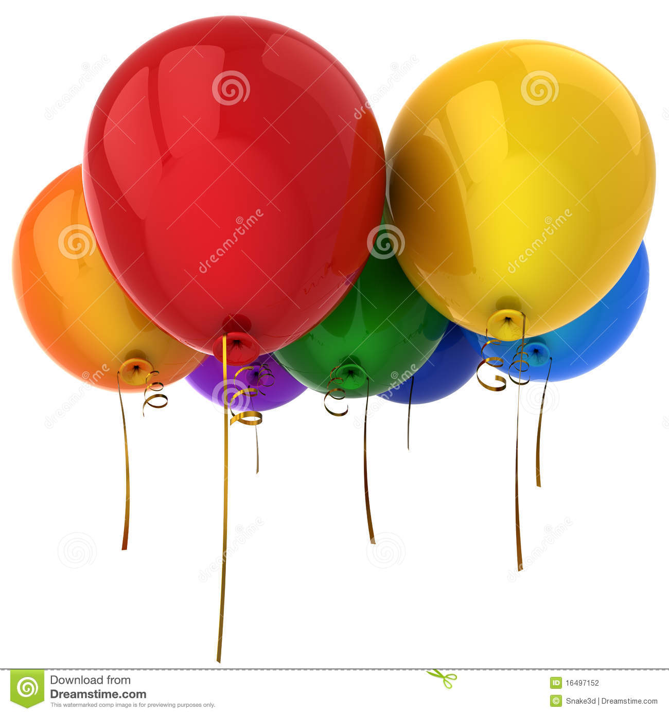 Colorful Helium Balloons (Hi-Res) Stock Photography - Image: 16497152