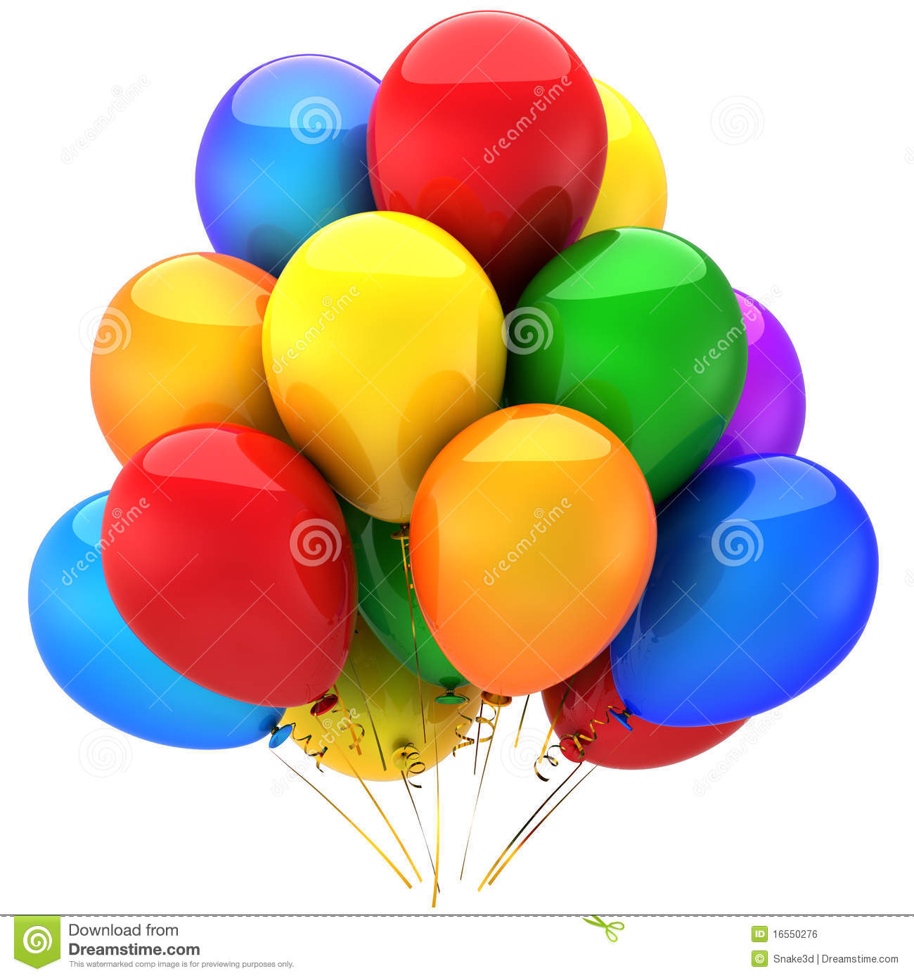 Colorful Helium Balloons (Hi-Res) Royalty Free Stock Image - Image