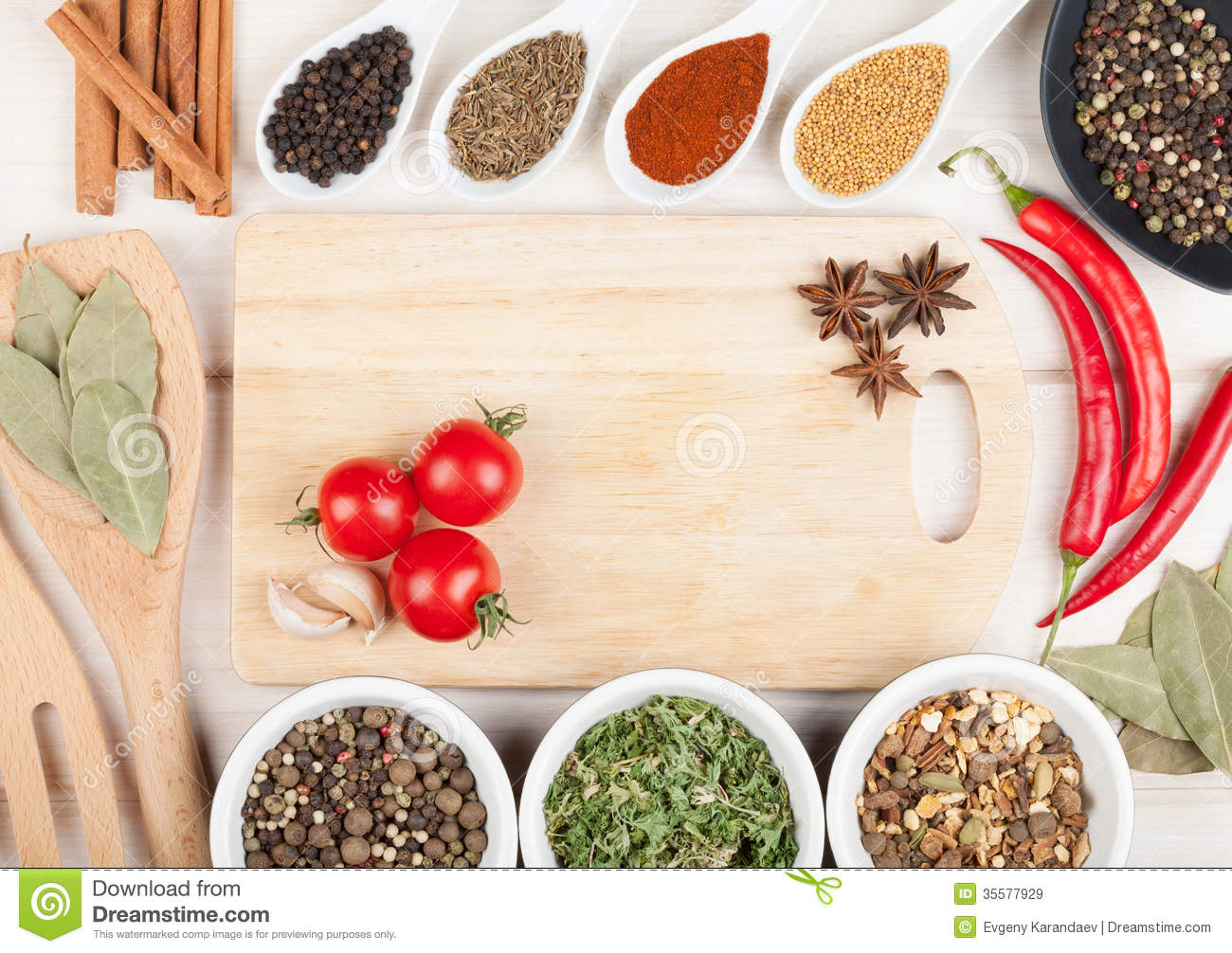 Colorful Herbs And Spices Selection Royalty Free Stock