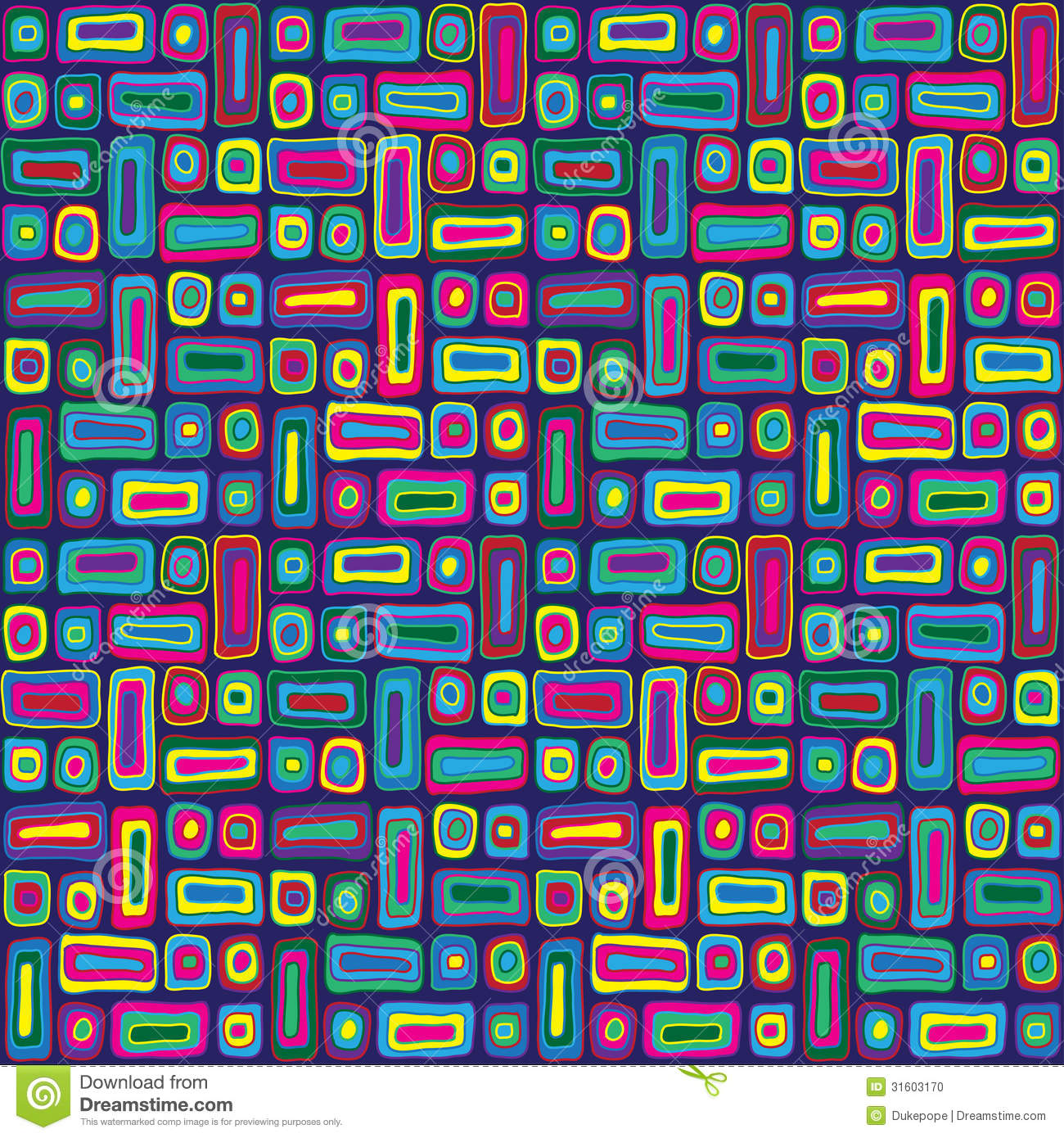 Colorful Hippie Pattern
