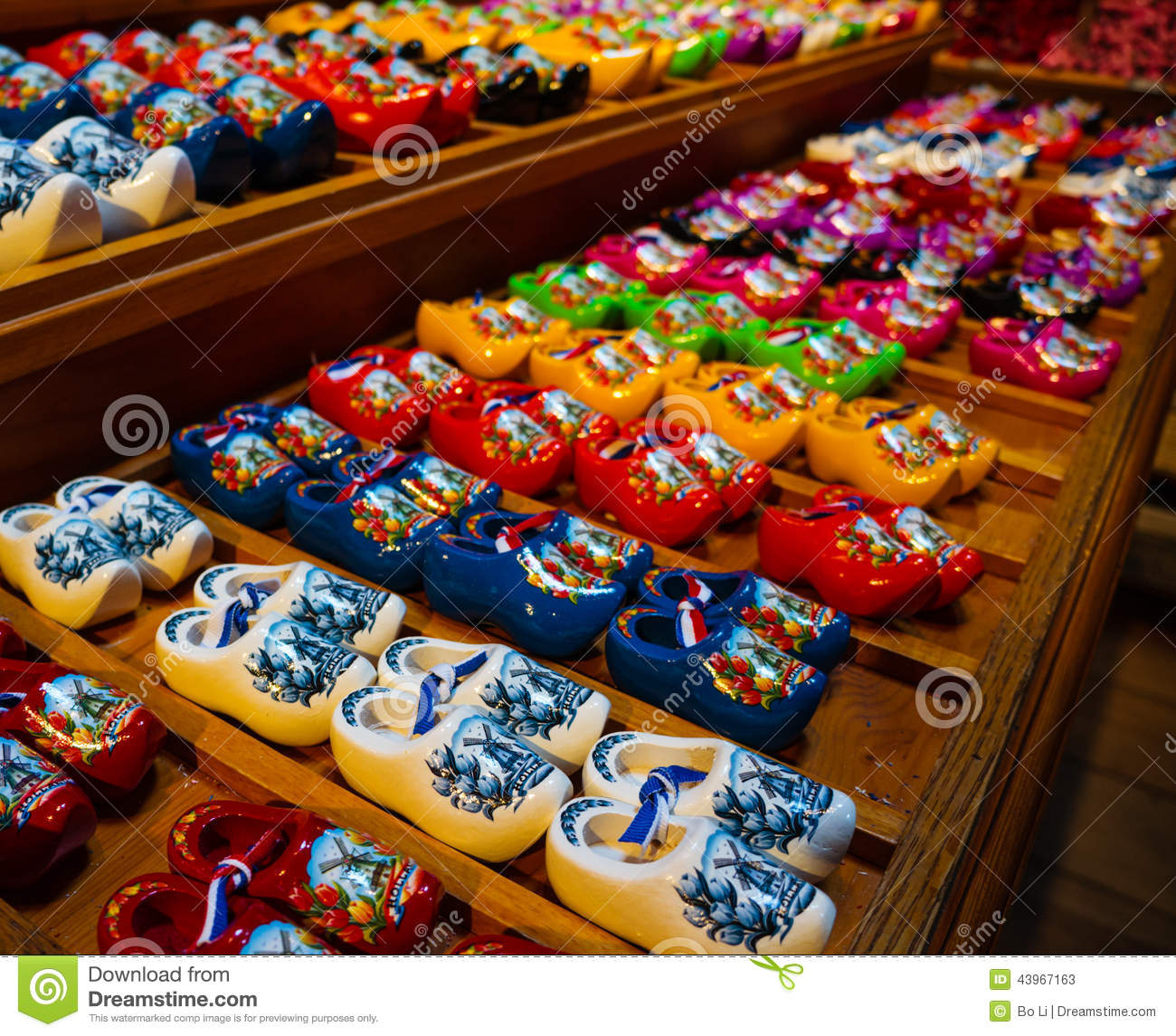 colorful holland clogs stock photo image 43967163