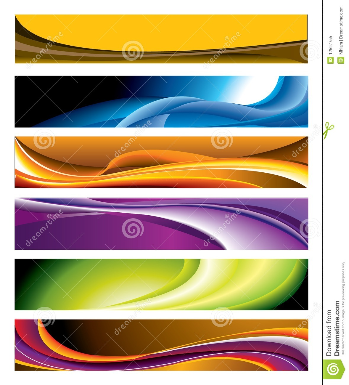 colorful horizontal banner collection royalty free stock photo