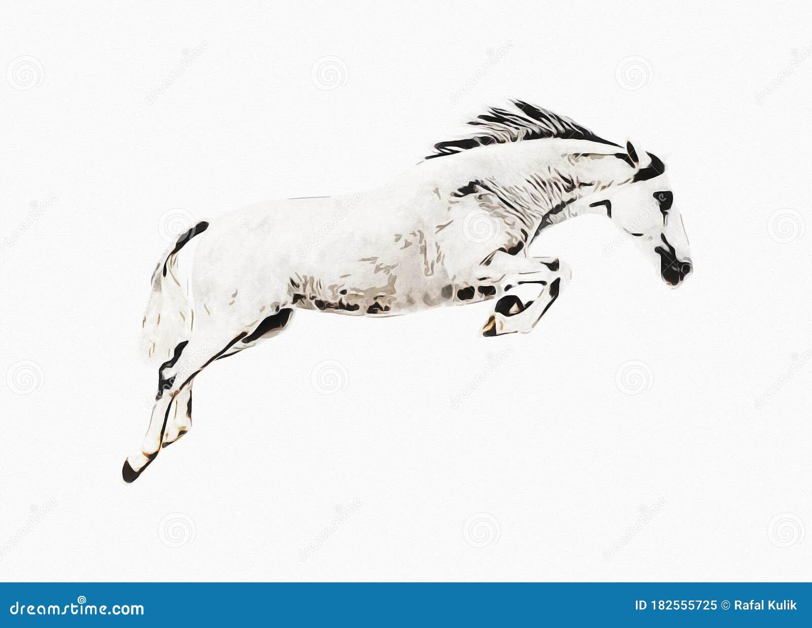 Colorful Horse Art Illustration Grunge Painting Stock Illustration Illustration Of Chestnut Vintage 182555725