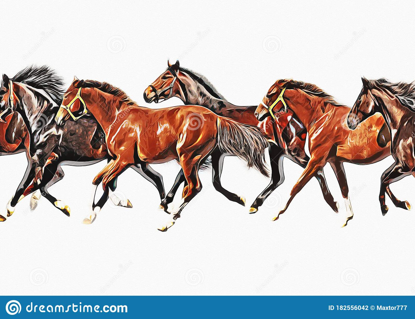 Colorful Horse Art Illustration Grunge Painting Stock Illustration Illustration Of Pencil Painting 182556042