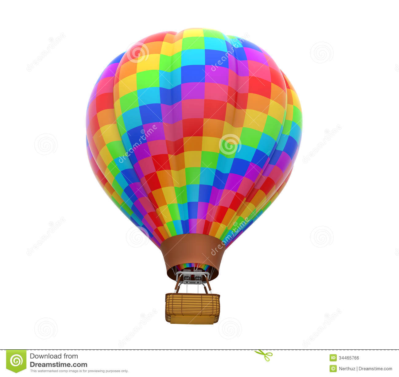 Colorful Hot Air Balloon stock illustration. Image of high ...