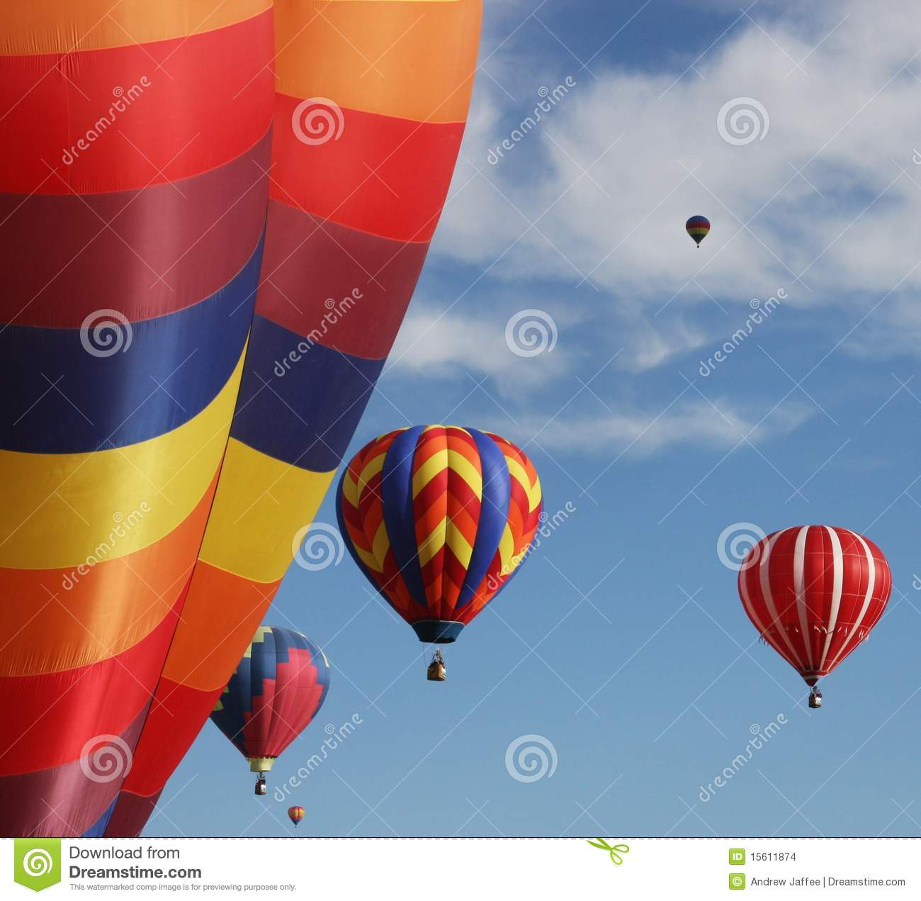 Colorful Hot Air Balloons Stock Images - Image: 15611874