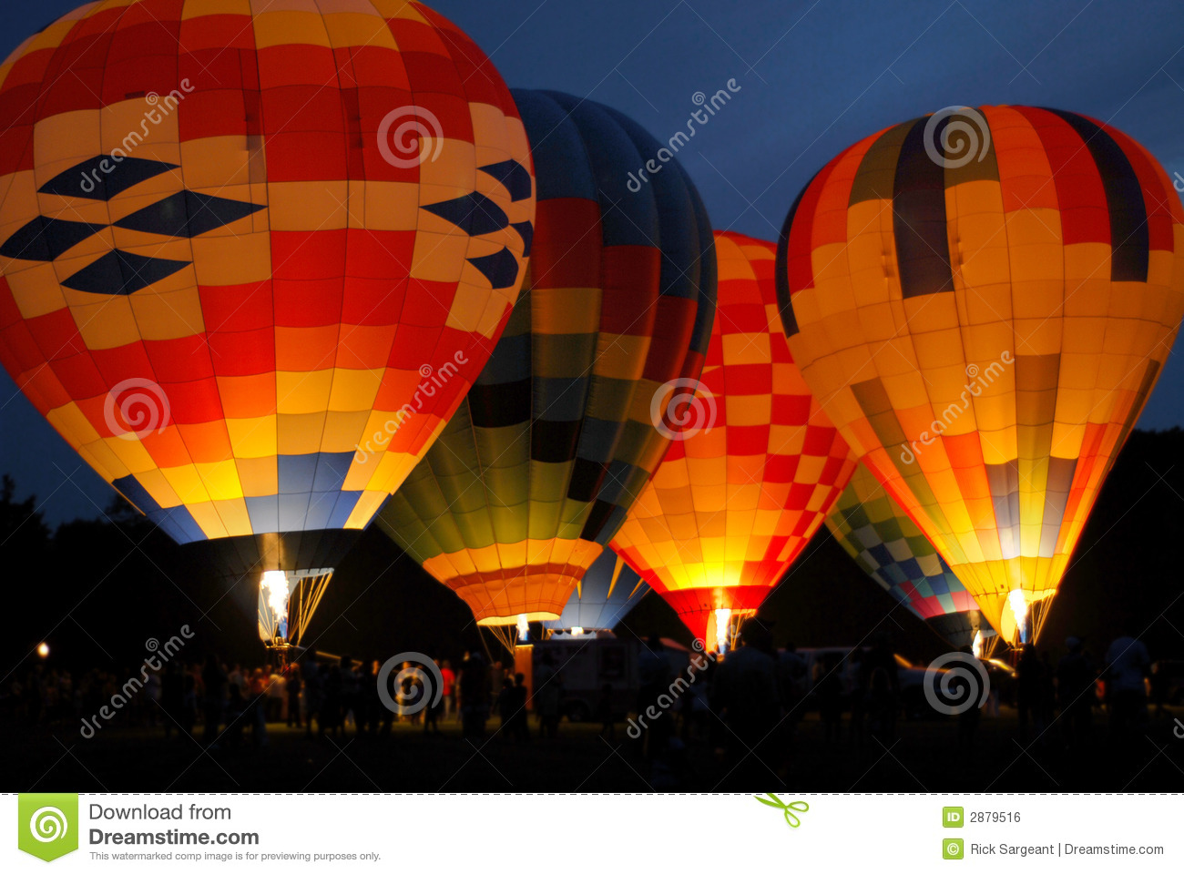 Colorful Hot Air Balloons Two Royalty Free Stock Image ...