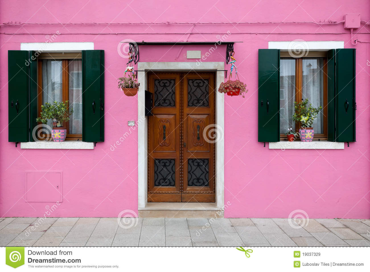 Colorful House In Burano Island, Venice, Italy Stock Image - Image ...