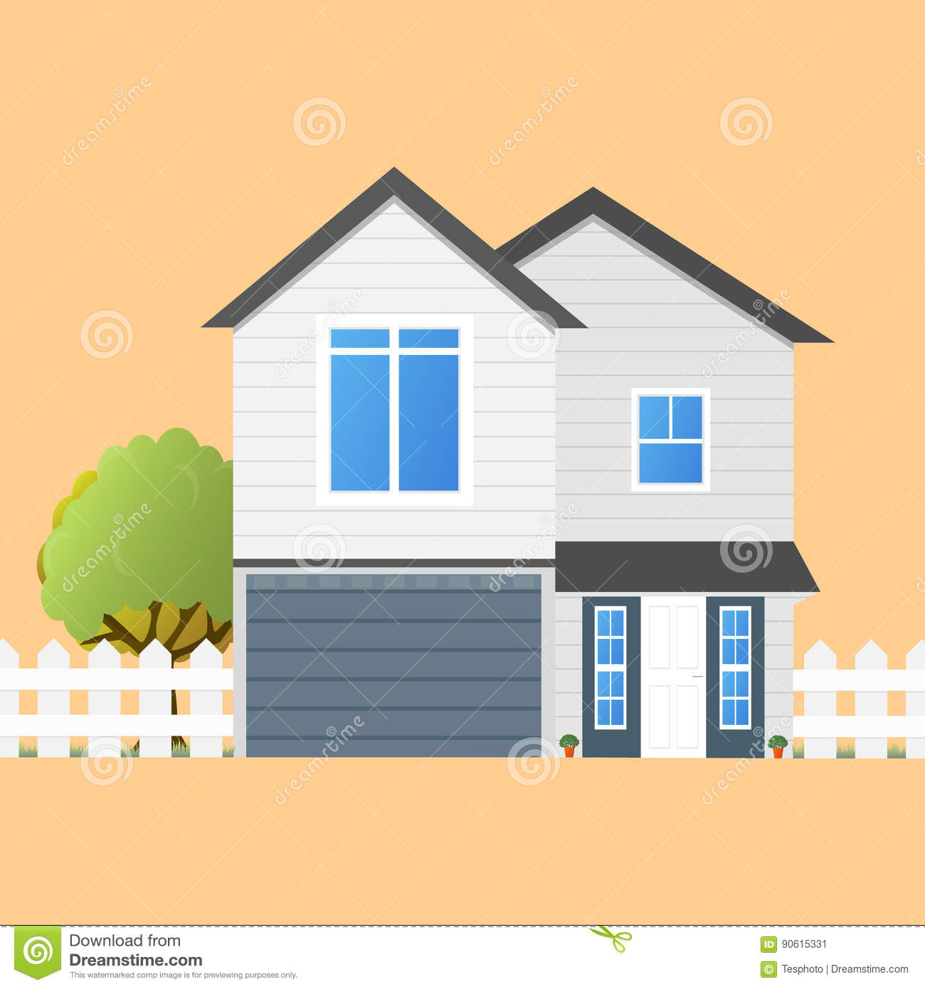 Colorful House Concept. House Flat Icon. Design Your Own Stock ...