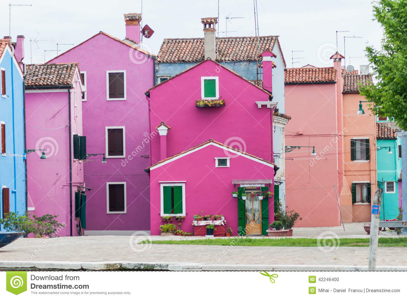 Colorful house stock photo. Image of city, italy, gate - 42246400