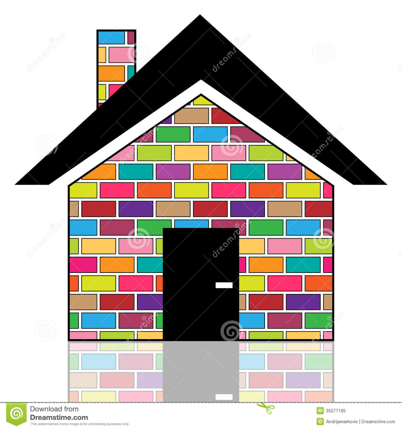 Colorful House a colorful house royalty free stock photo - image: 35277195