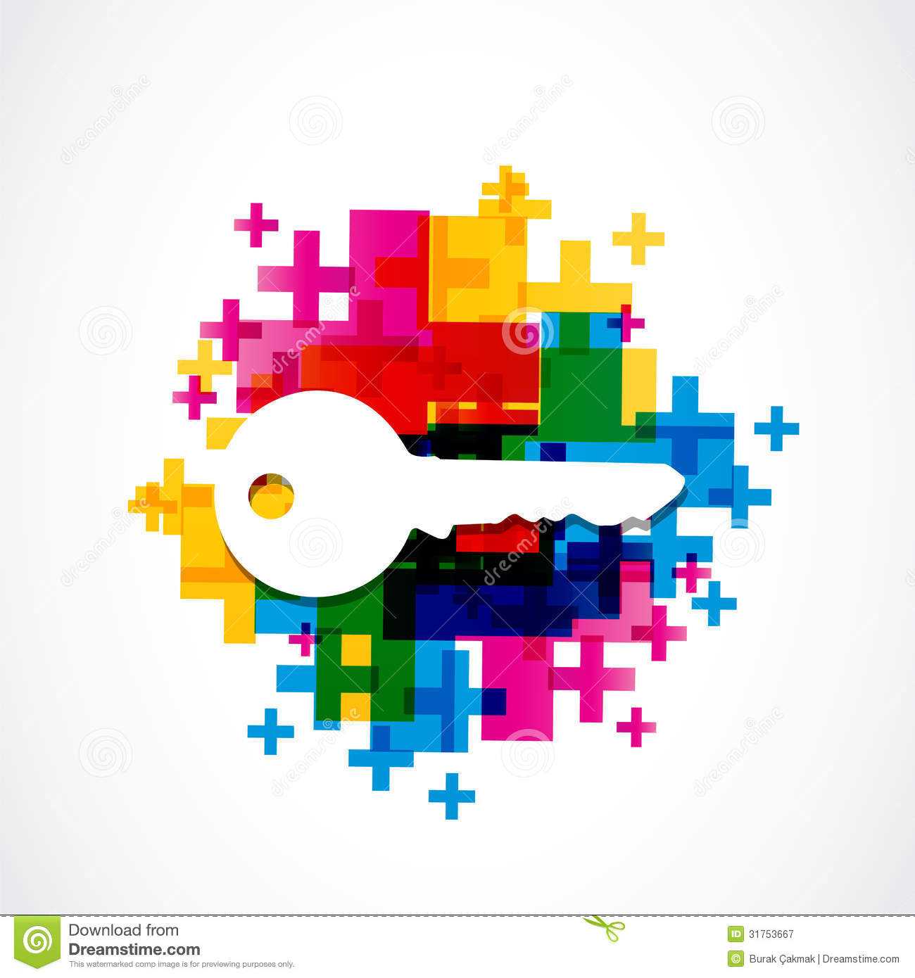Colorful House Key Background Royalty Free Stock
