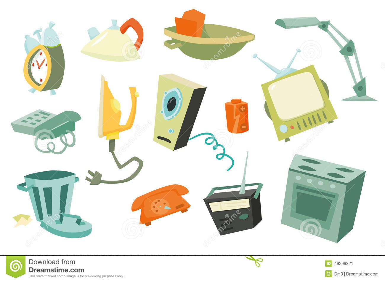 Colorful household items 1