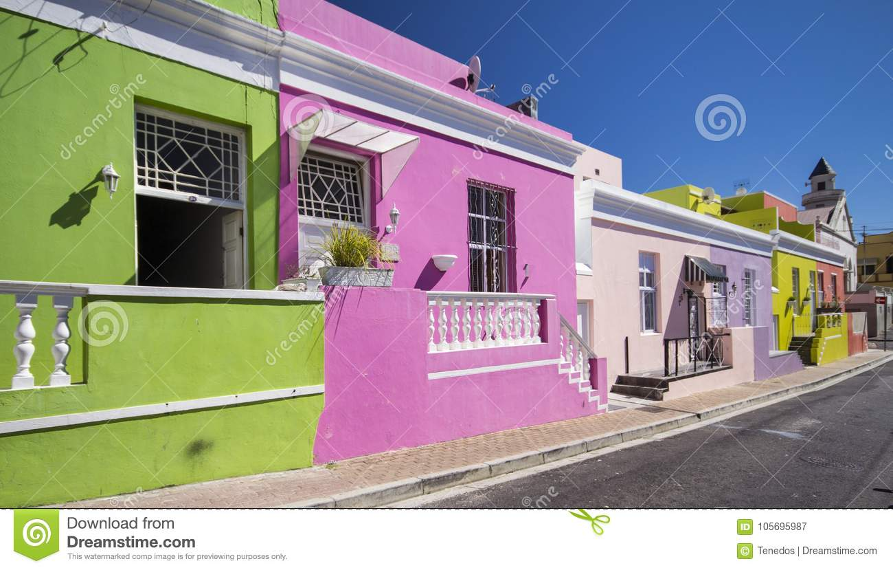 Colorful Houses Of Bo-kaap, Cape Town Stock Image - Image of ...