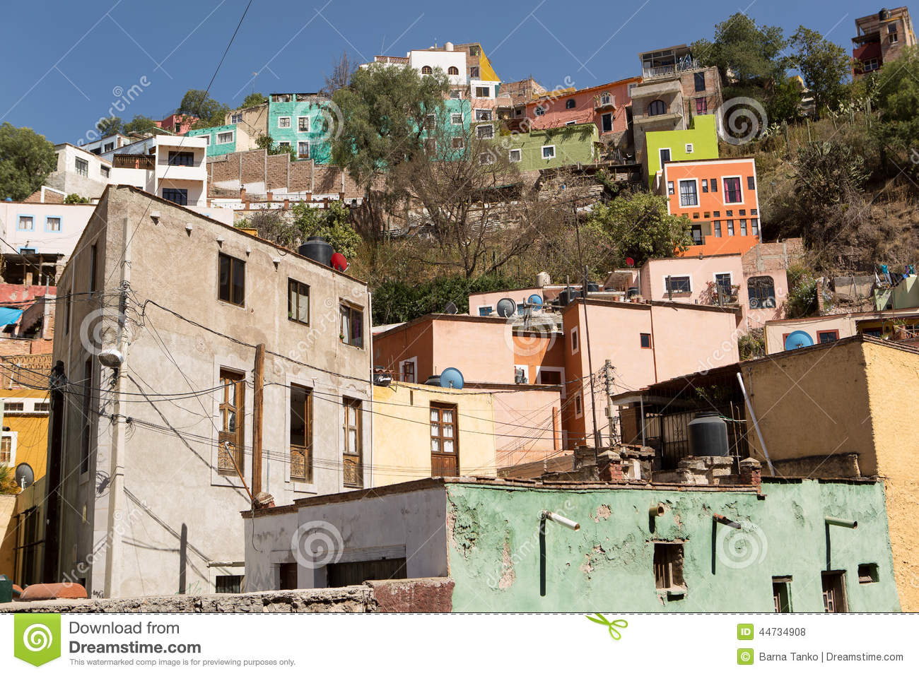 Colorful houses in guanajuato mexico stock photo image 44734908 - Houses built inhours ...