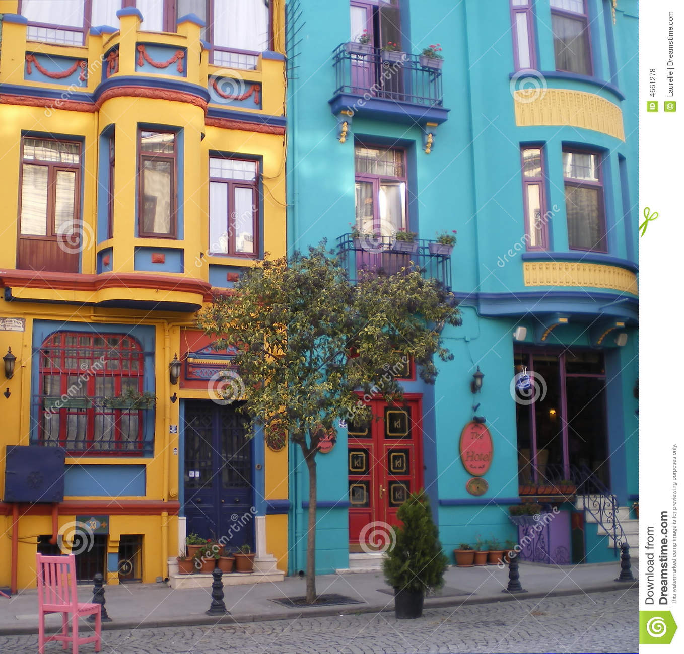 Colorful houses istanbul stock photo image of for Colorful tree house