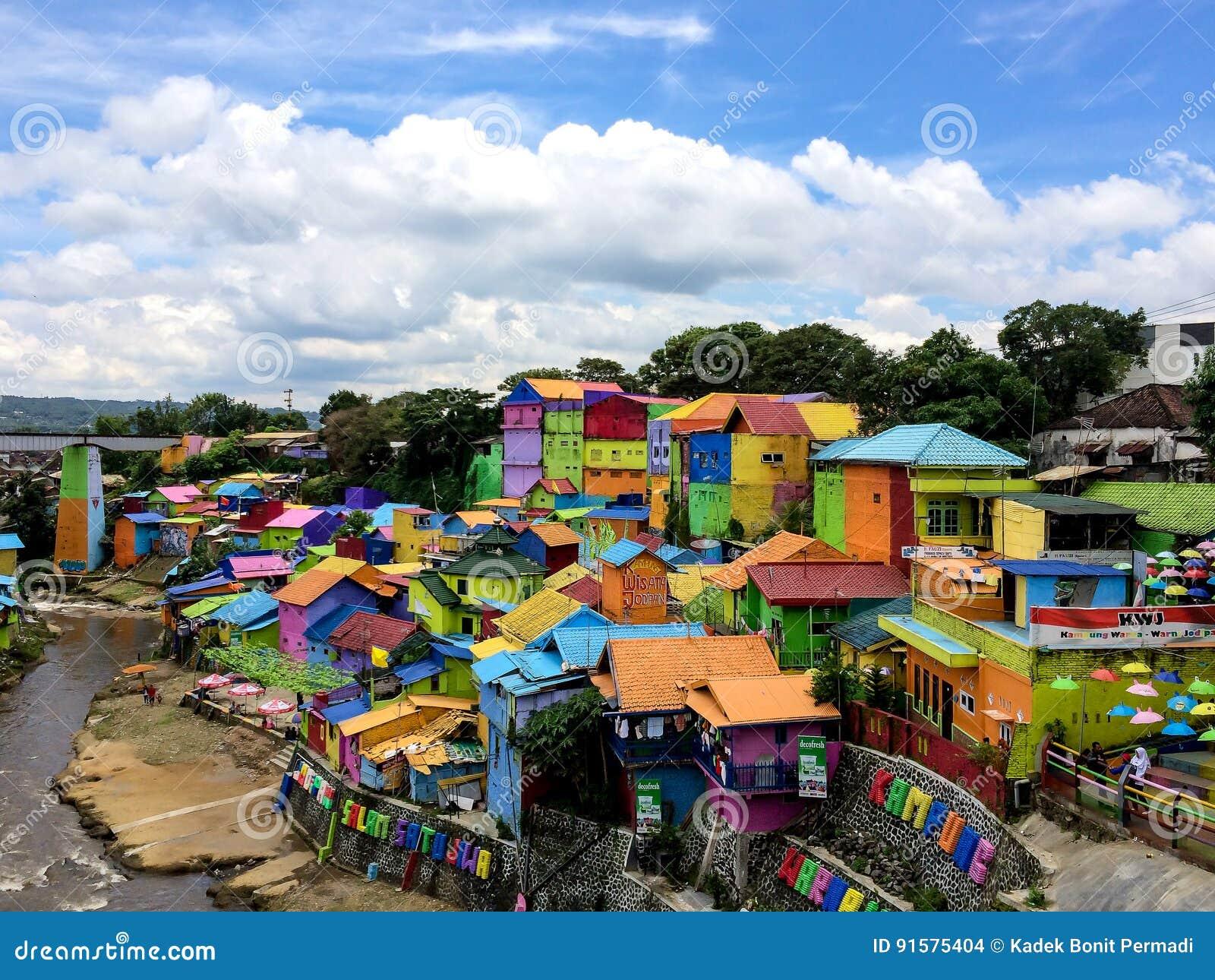 The Colorful Houses Of Kampung Warna Warni In Jodipan