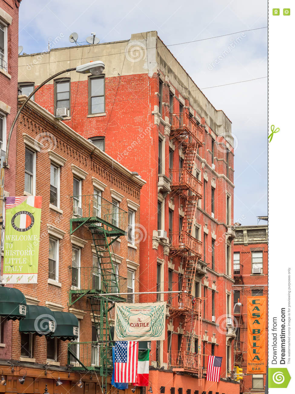 Little Italy, New York Editorial Image