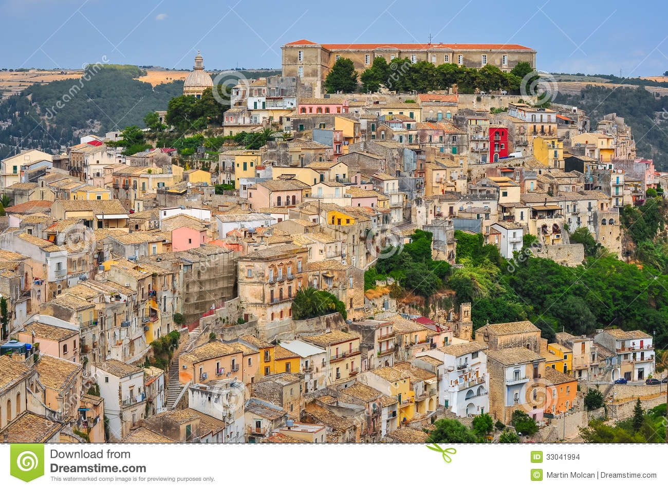 Ragusa Italy  City pictures : Colorful houses in old medieval village Ragusa in Sicily, Italy.