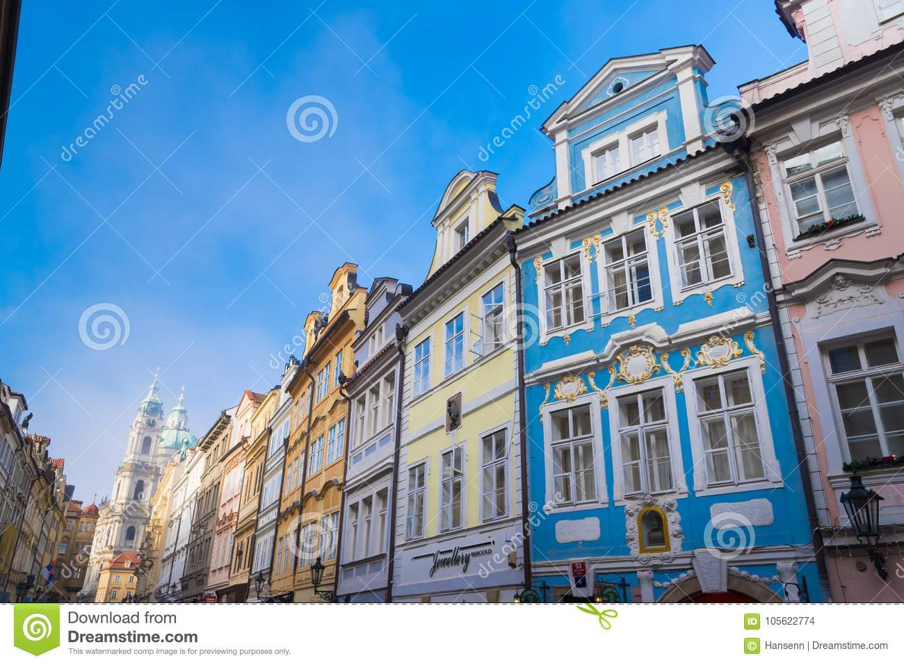 Colorful houses in prague