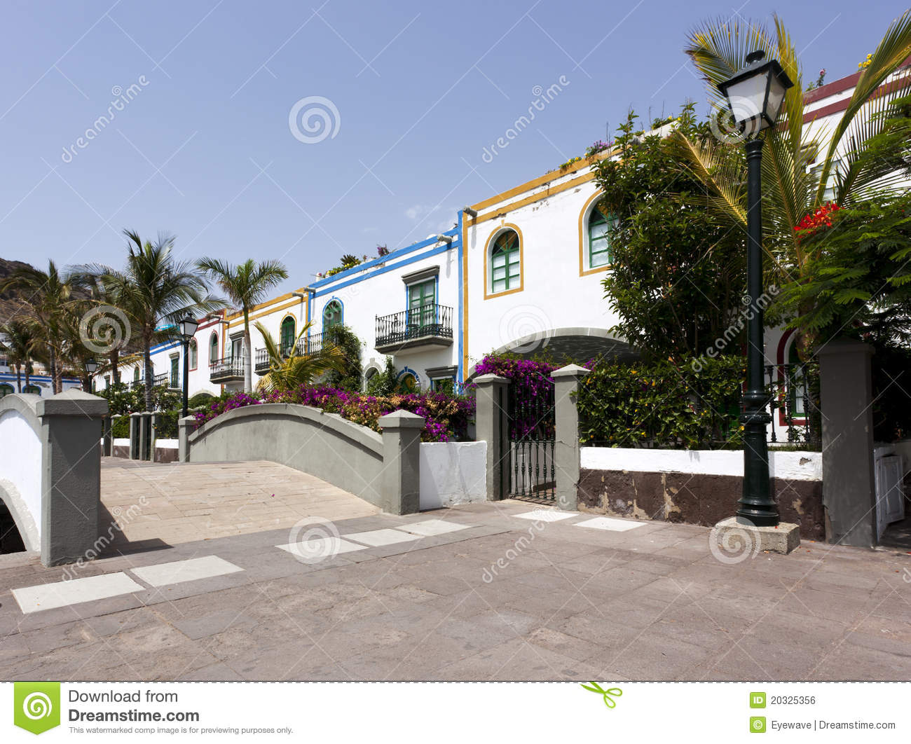 Colorful houses at puerto de mogan gran canaria royalty - Houses in gran canaria ...