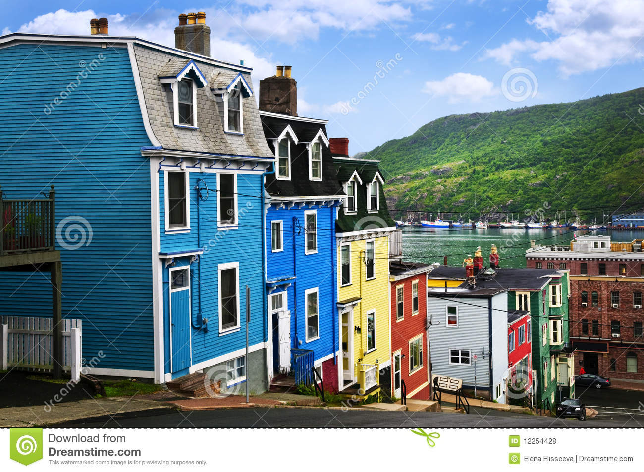 Colorful houses in St. John s