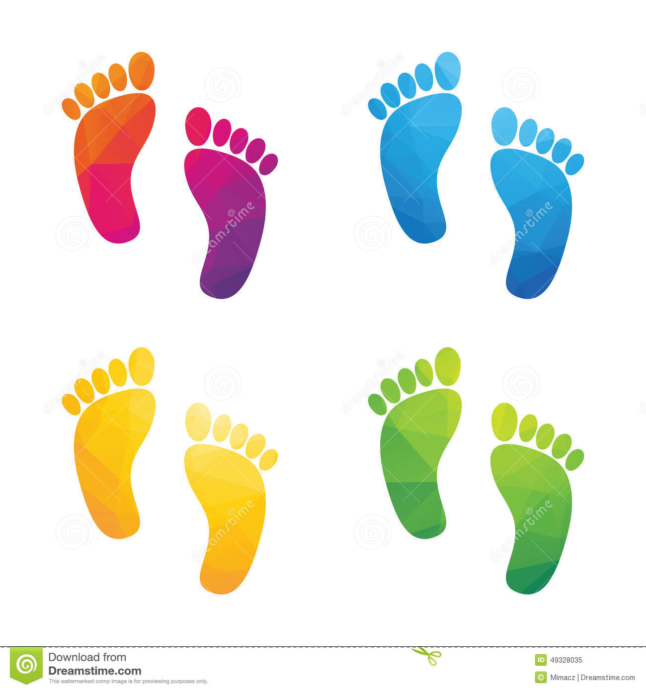colorful human footprints stock vector illustration of free footprint clipart black and white free footprint clipart downloads