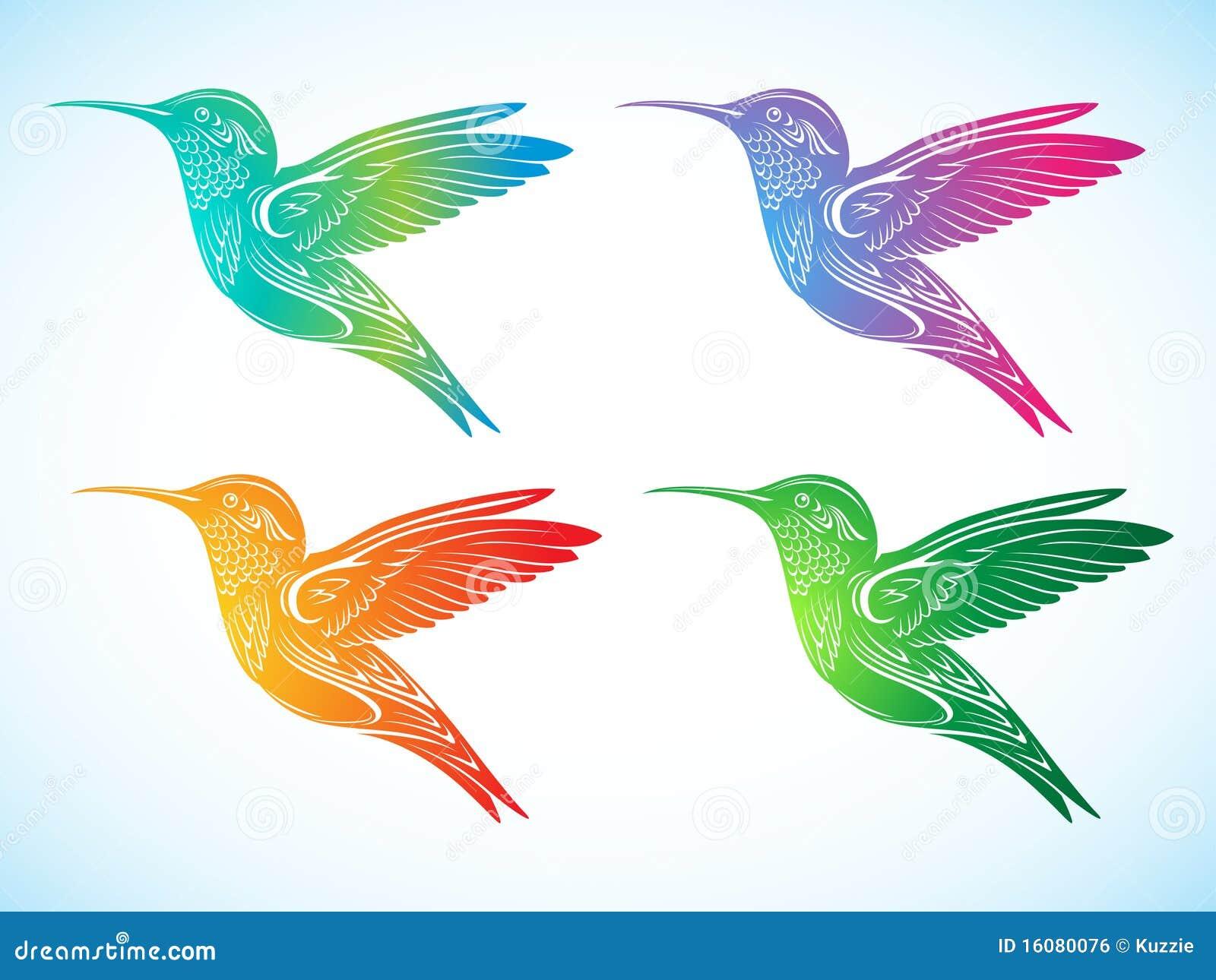 Hummingbird And Honeysuckle Tattoo Colorful hummingbirds