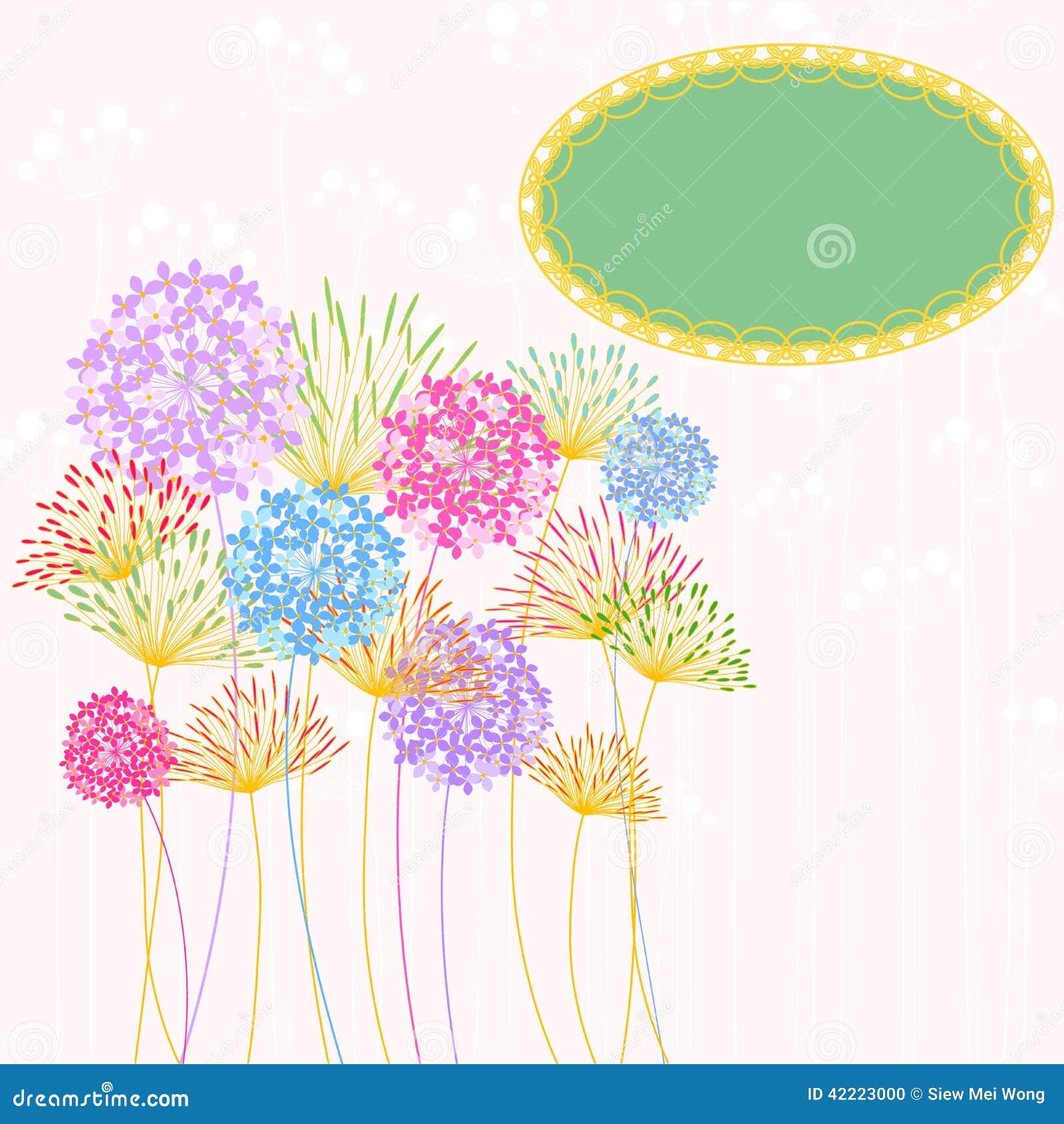 Colorful Hydrangea Flower Garden Party Stock Vector Image - Colorful flower garden background