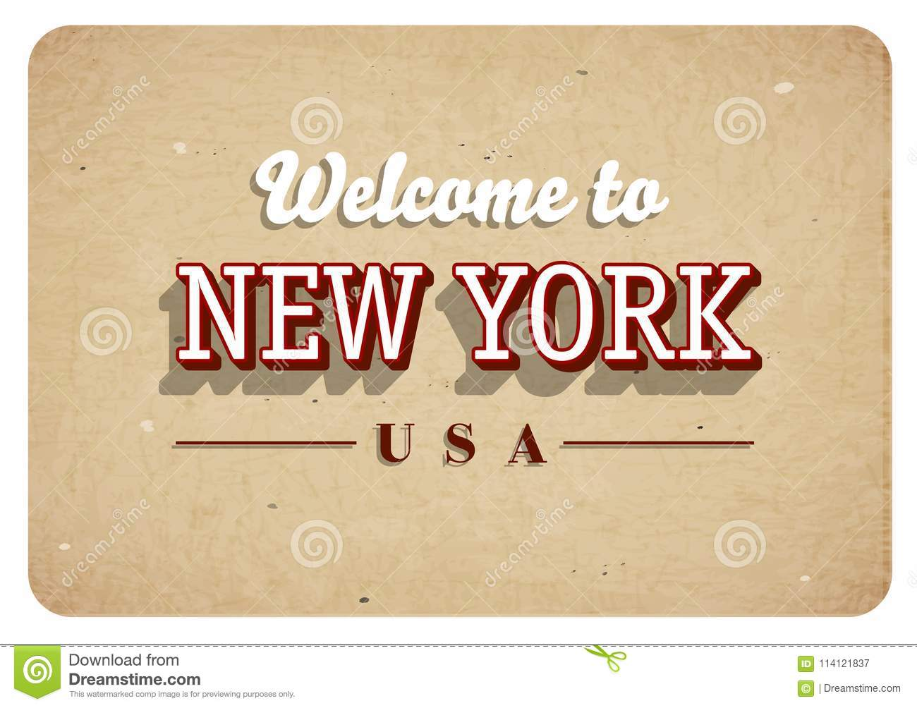 Welcome to New York - Vintage greeting card