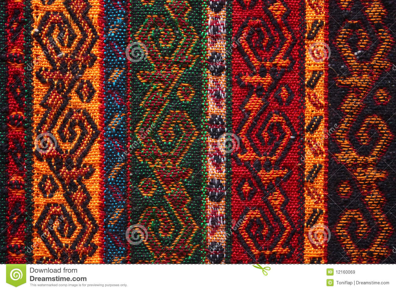 Colorful Indian Textile Stock Image Image Of Covering
